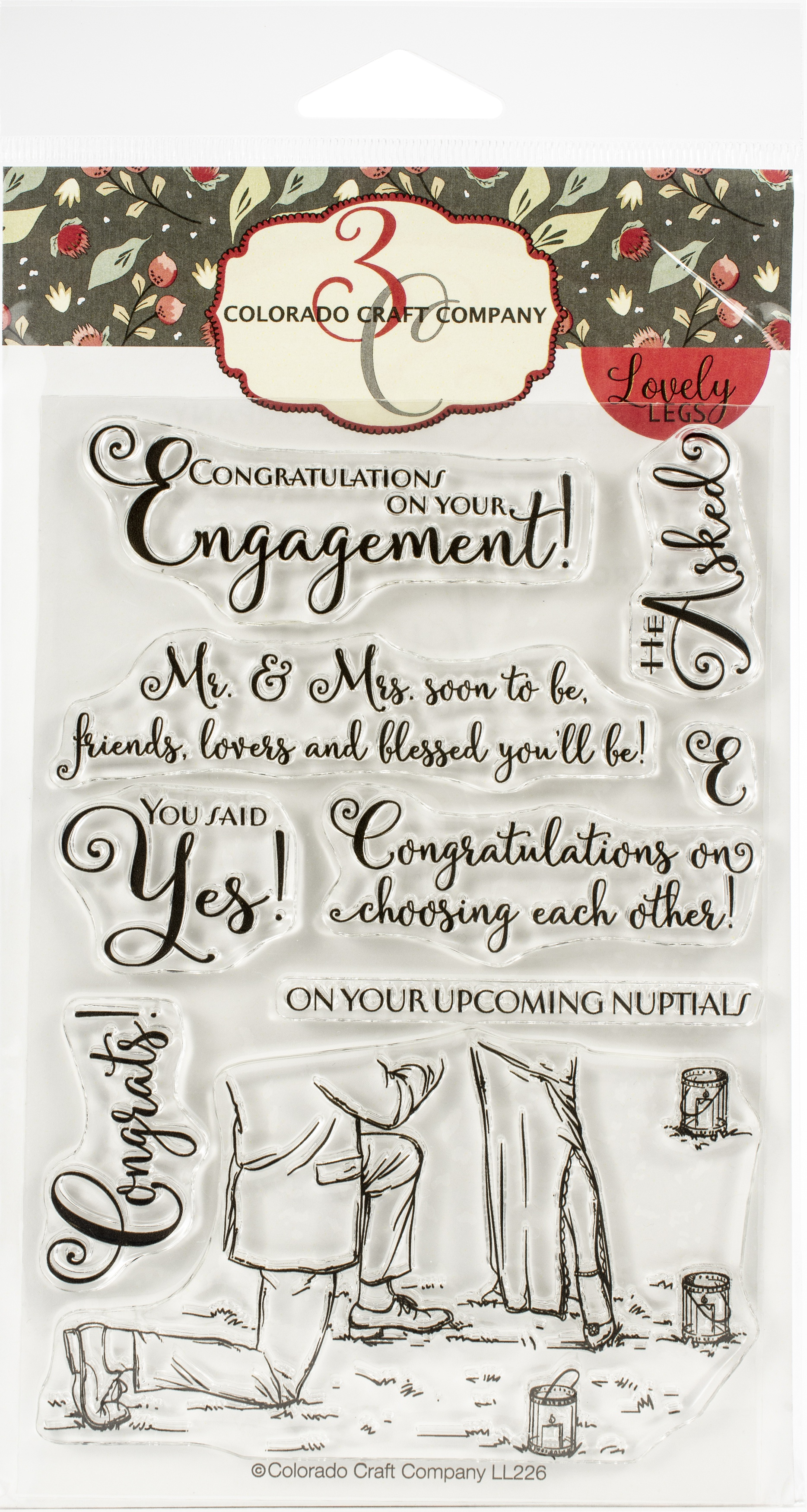 Colorado Craft Company Clear Stamps 4X6-Engagement-Lovely Legs