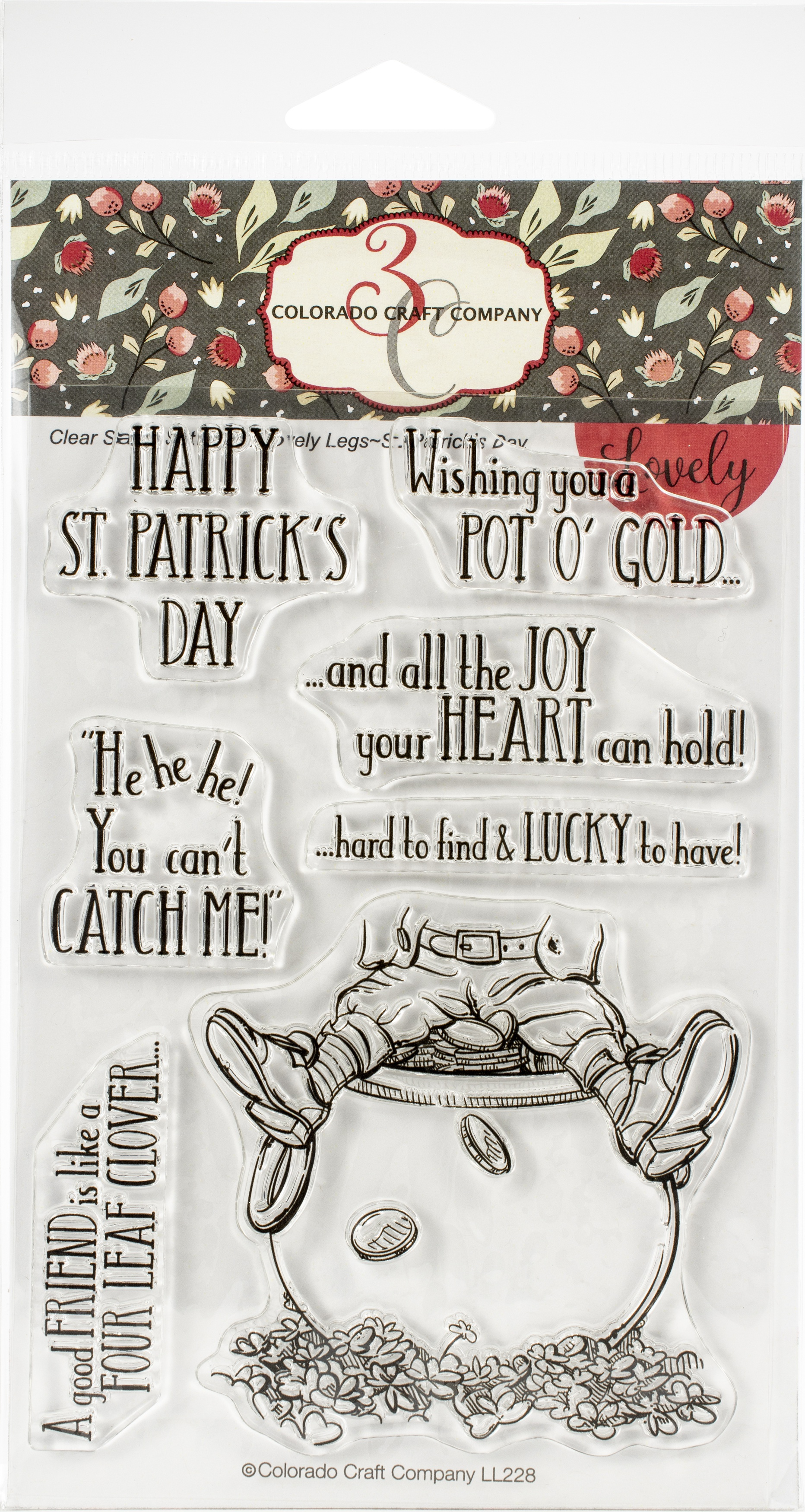 Colorado Craft Company Clear Stamps 4X6-St. Patrick's Day-Lovely Legs