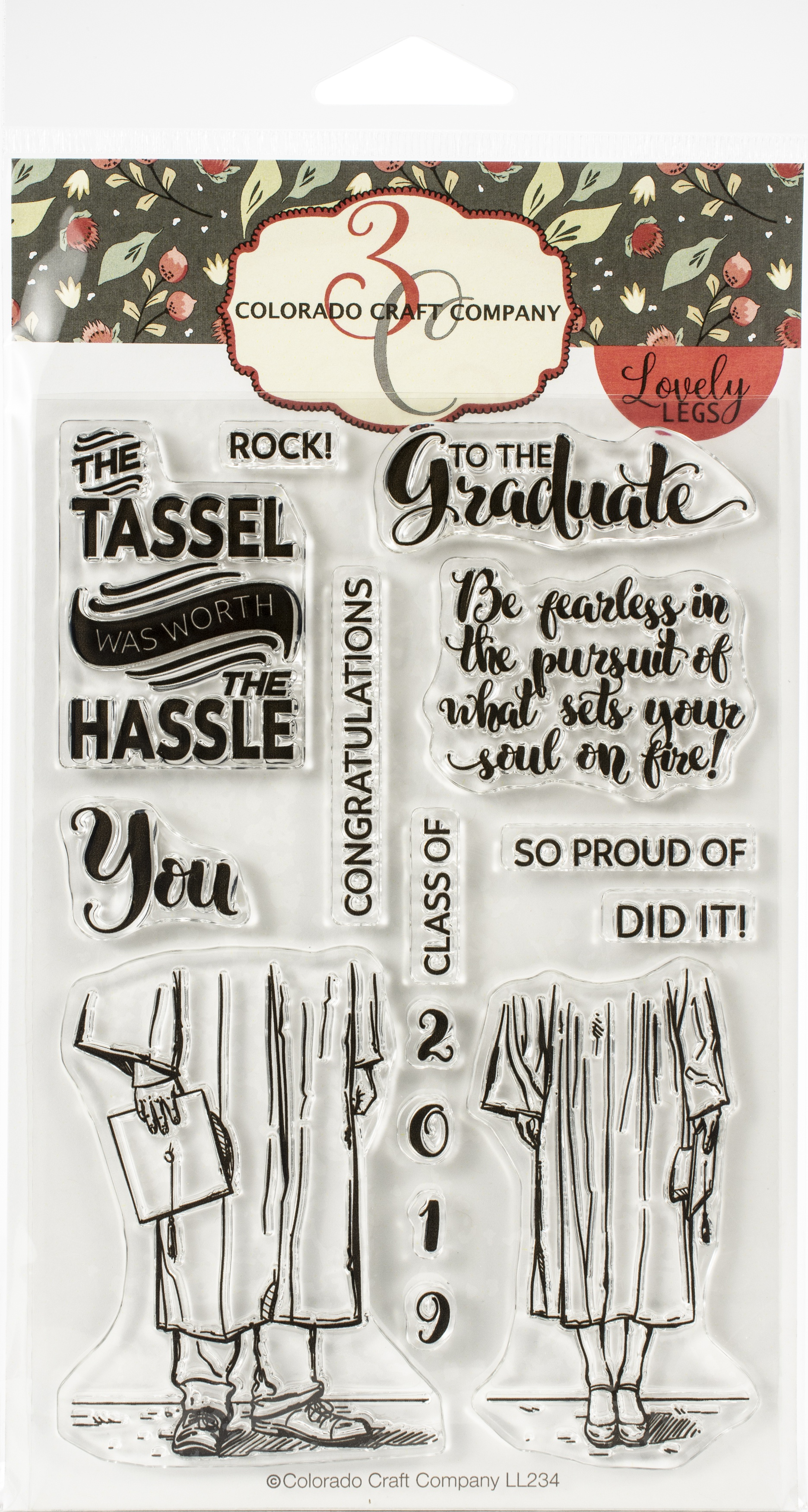 Colorado Craft Company Clear Stamps 4X6-Graduation-Lovely Legs