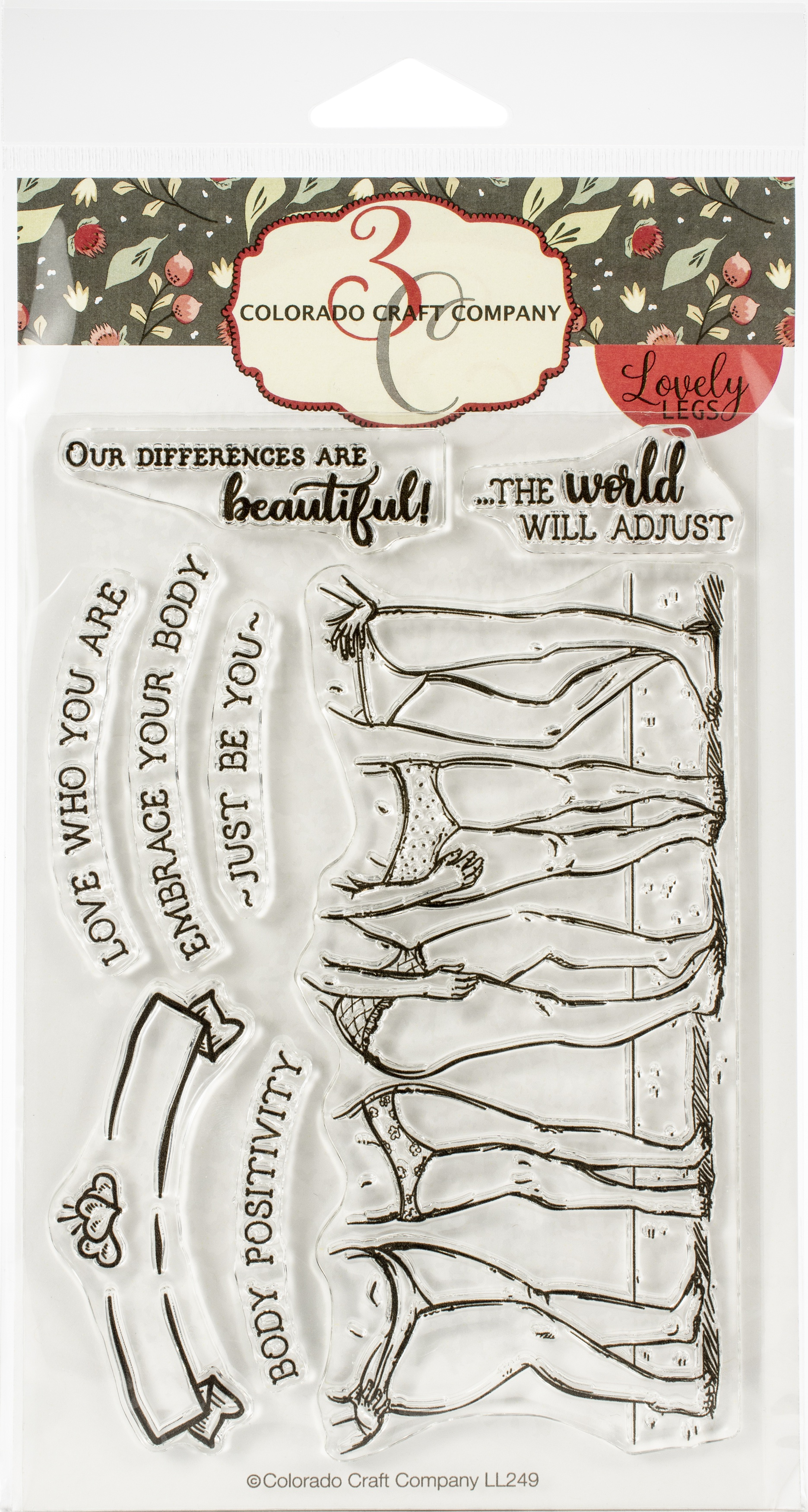 Colorado Craft Company - Body Positivity Clear Stamp - Lovely Legs