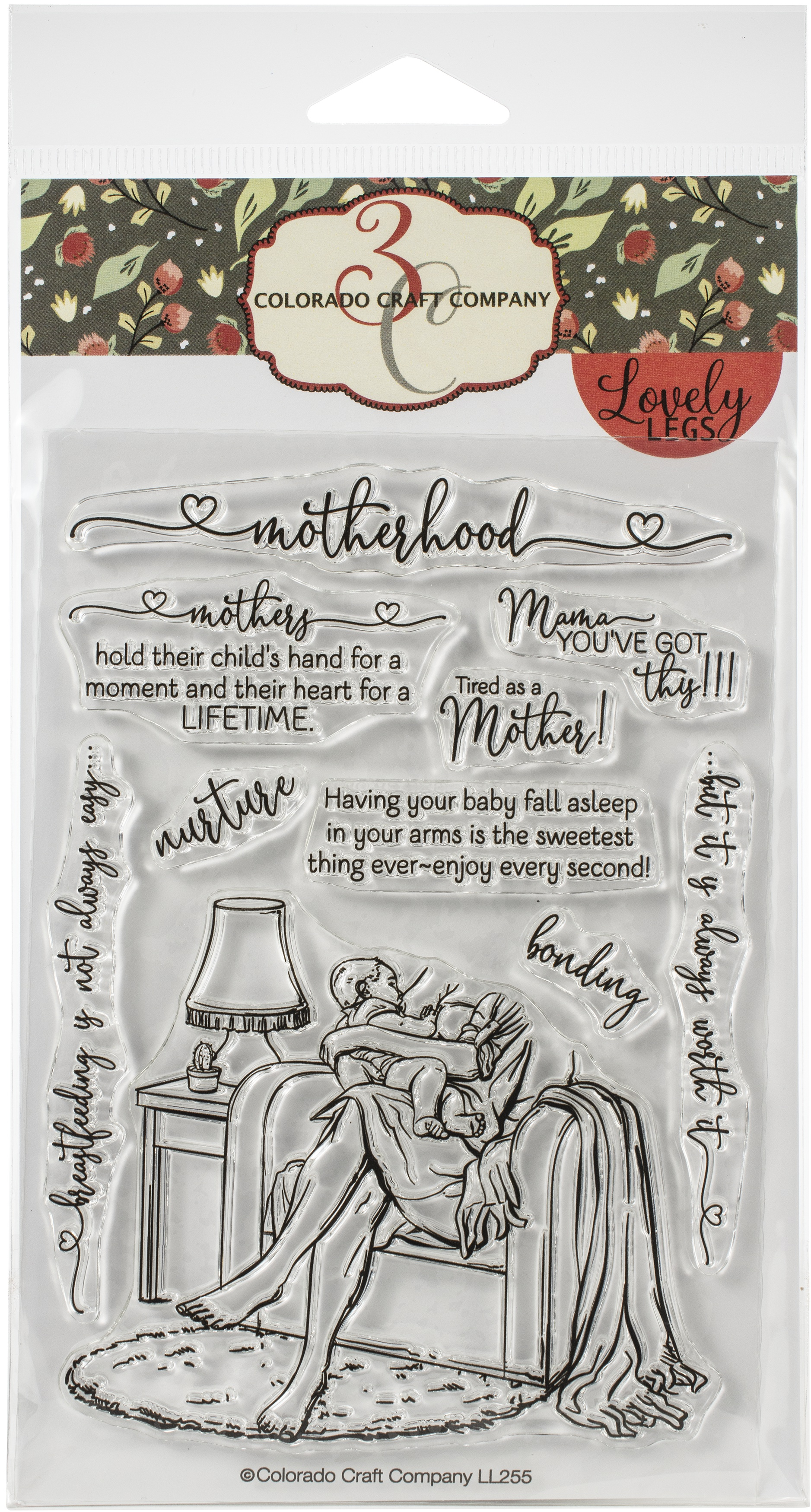 Colorado Craft Company Clear Stamps 4X6-Motherhood-Lovely Legs