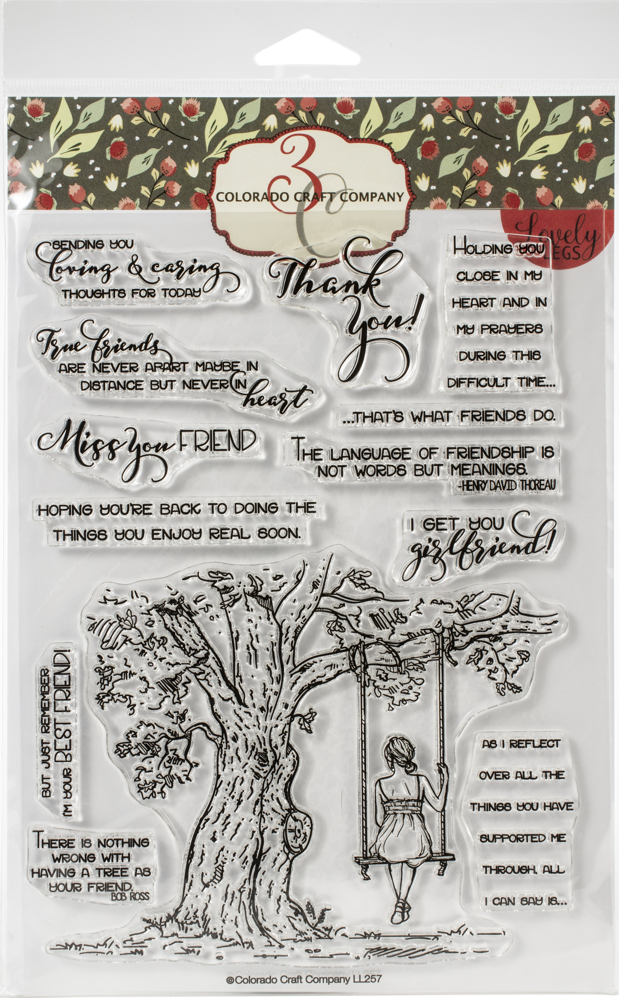 Colorado Craft Company Clear Stamps 6X8-Reflection Tree-Lovely Legs