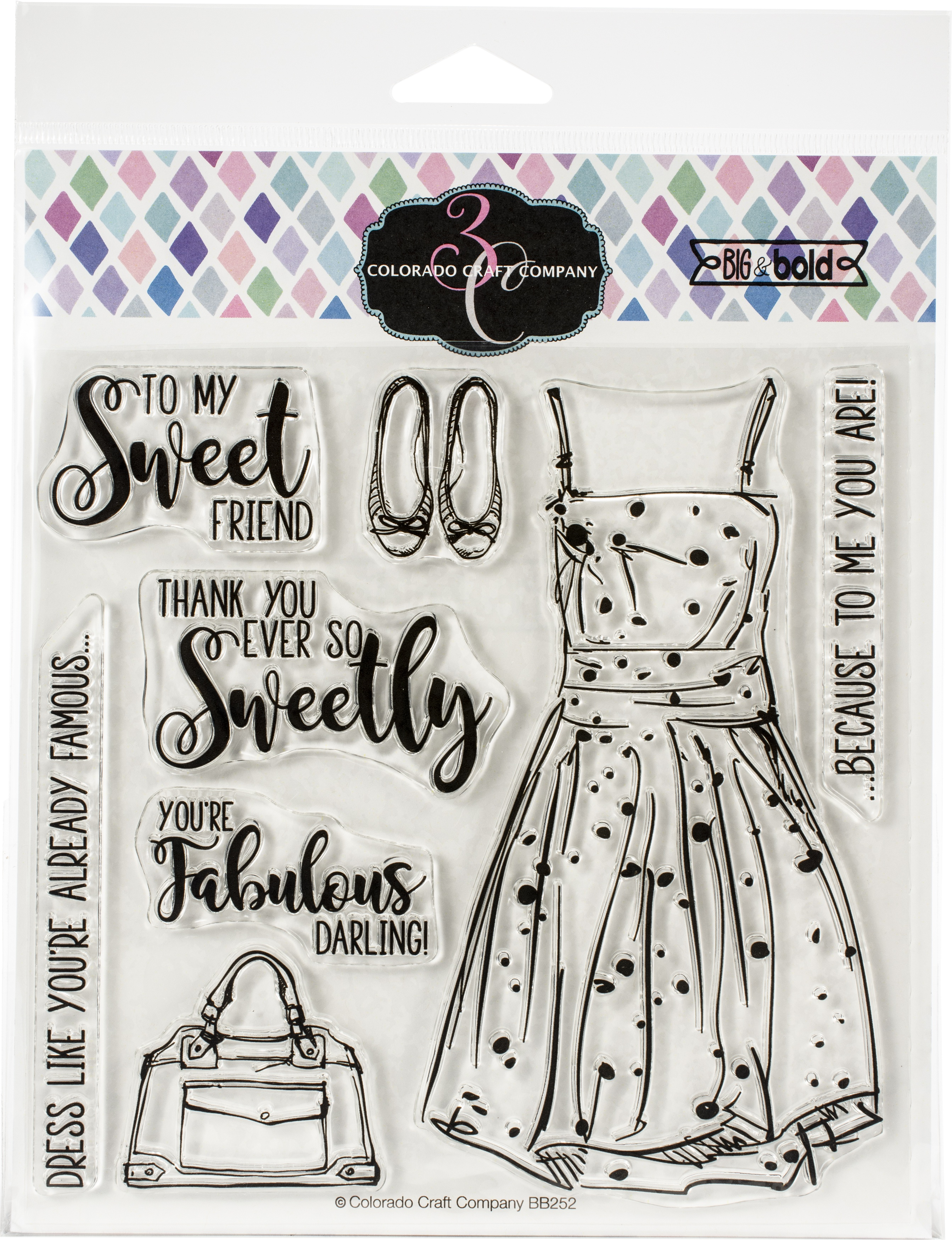 Colorado Craft Company Clear Stamps 6X6-You're Fabulous-Big & Bold