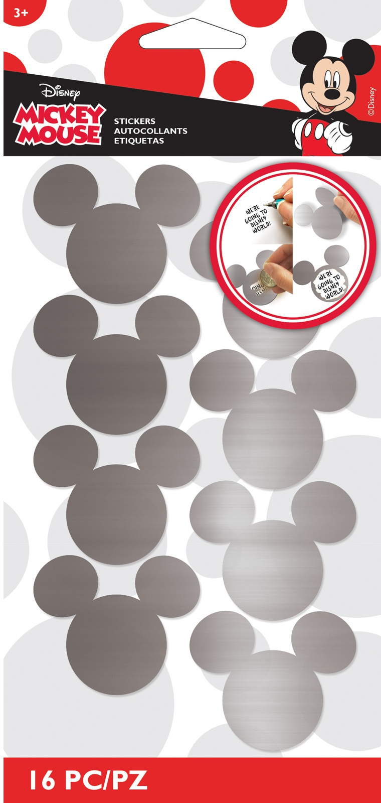EK Disney Scratch-Off Stickers 16/Pkg-Mickey Ears