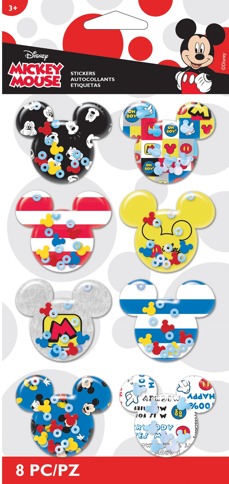 EK Disney Shaker Stickers 8/Pkg-Mickey Ears