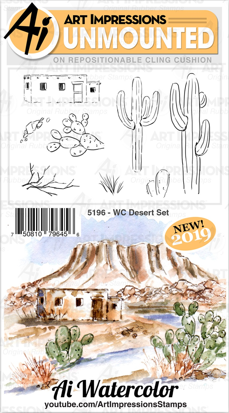 AI Watercolor Stamps - 5196 Desert Set