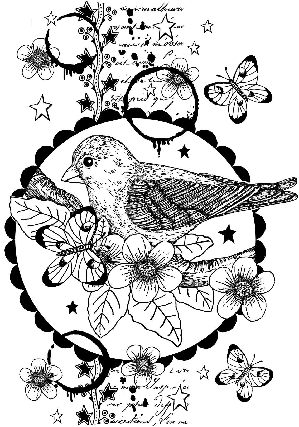 Crafty Individuals Unmounted Rubber Stamp 3.77X5.39-Nesting Instinct