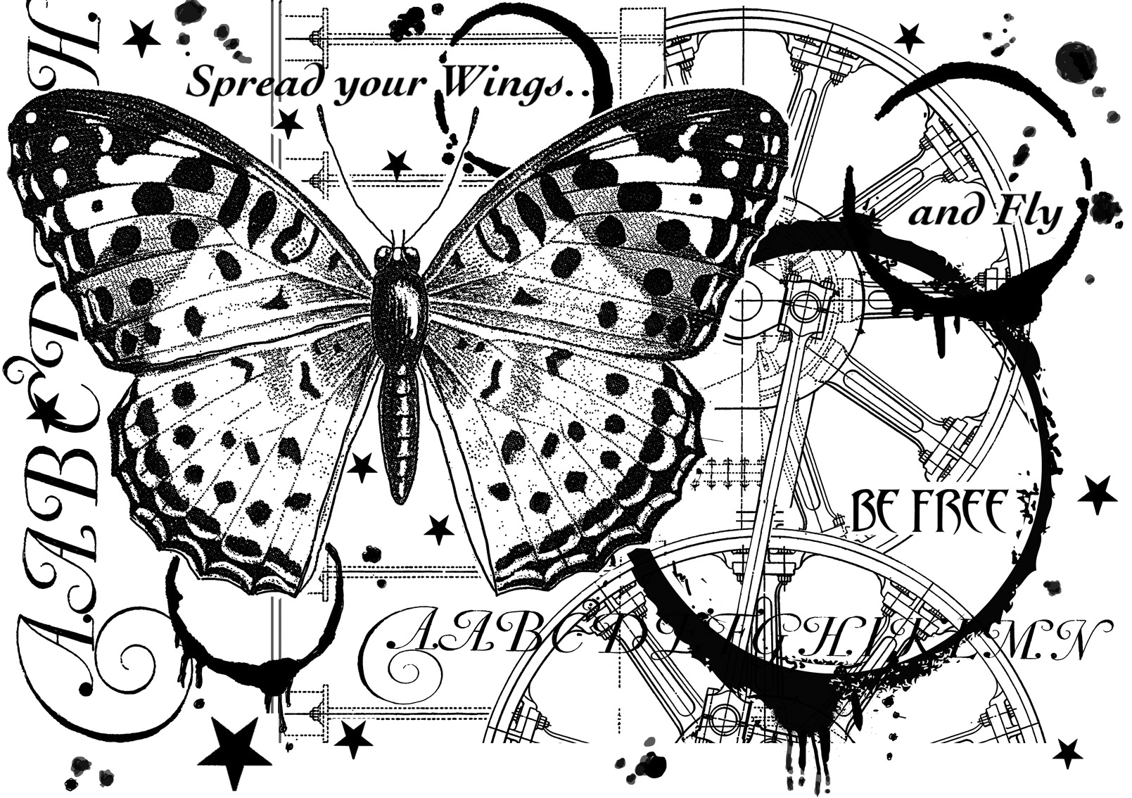 Crafty Individuals Unmounted Rubber Stamp 3.77X5.39-Fly And Be Free