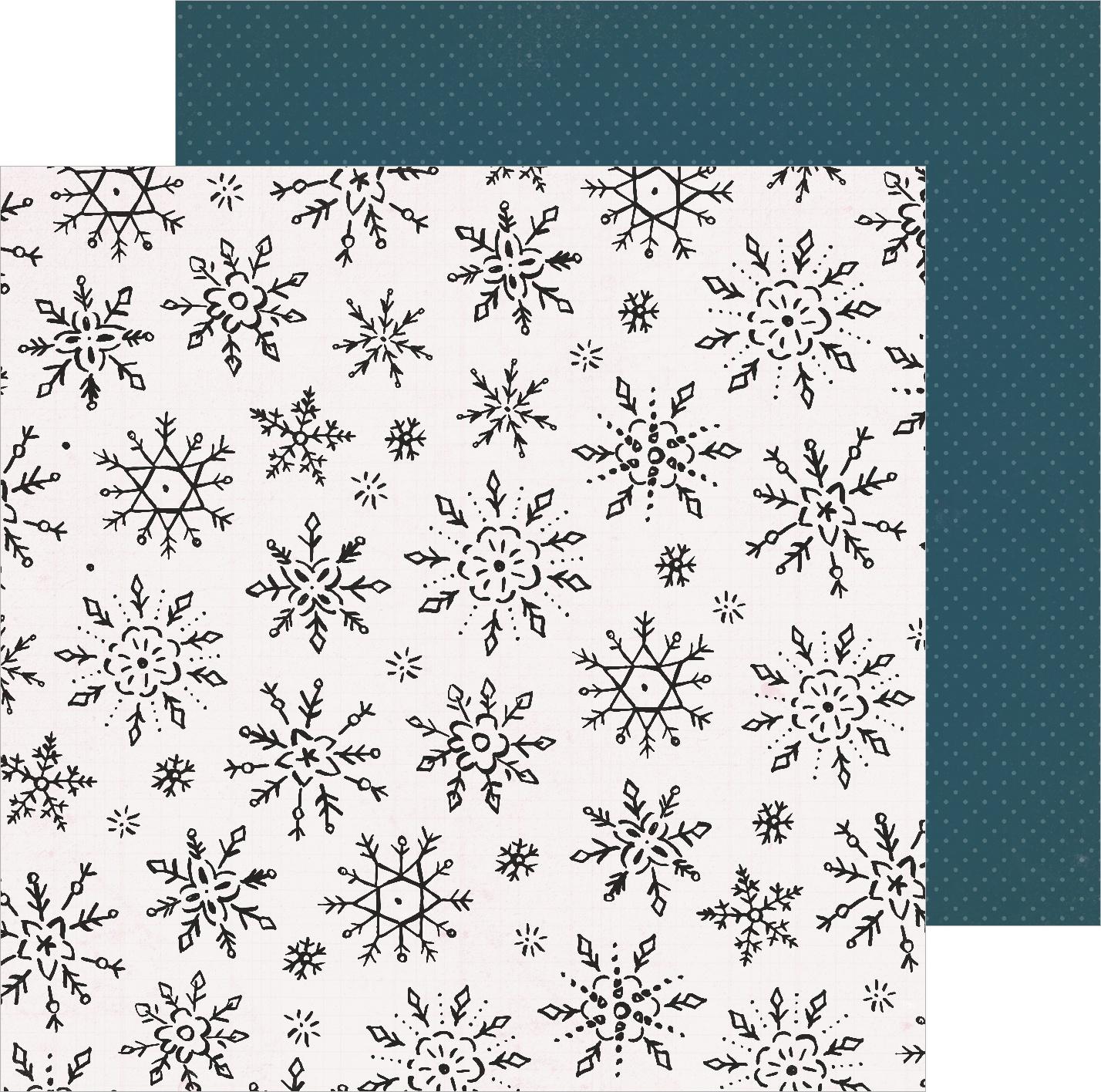 Snowflake Winterscape Paper