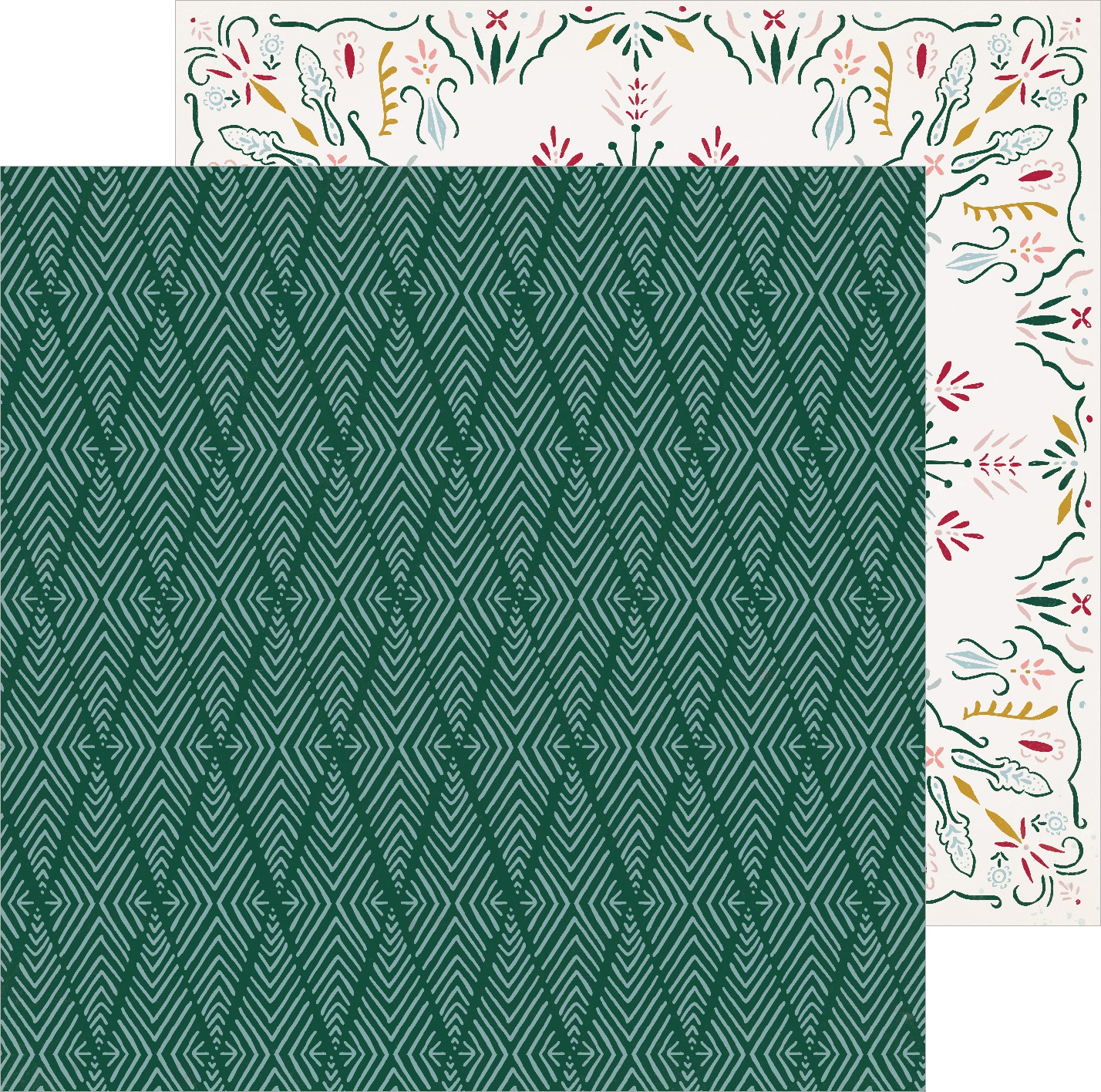 Snowflake Double-Sided Cardstock 12X12-Icicles