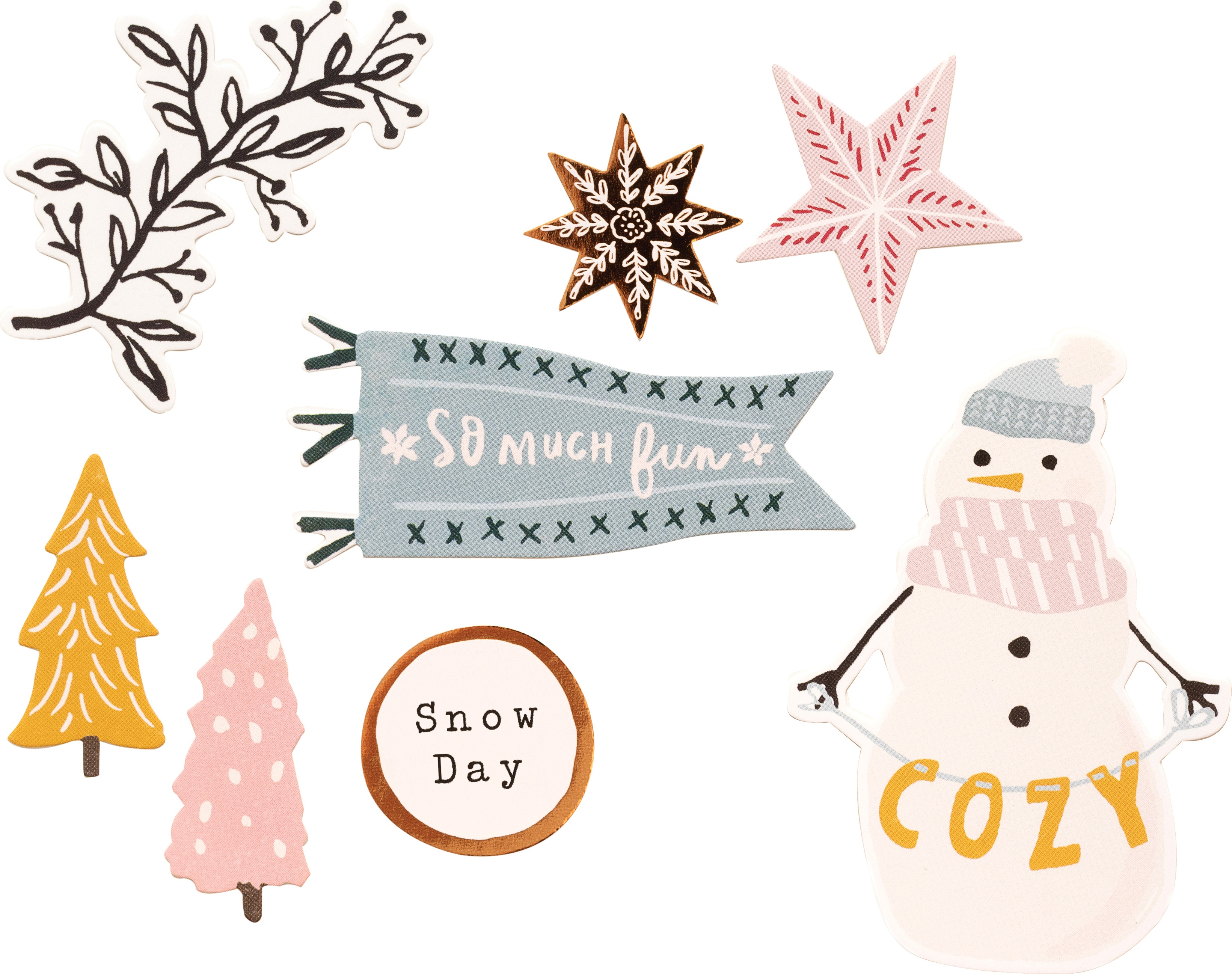 Snowflake Cardstock Stickers