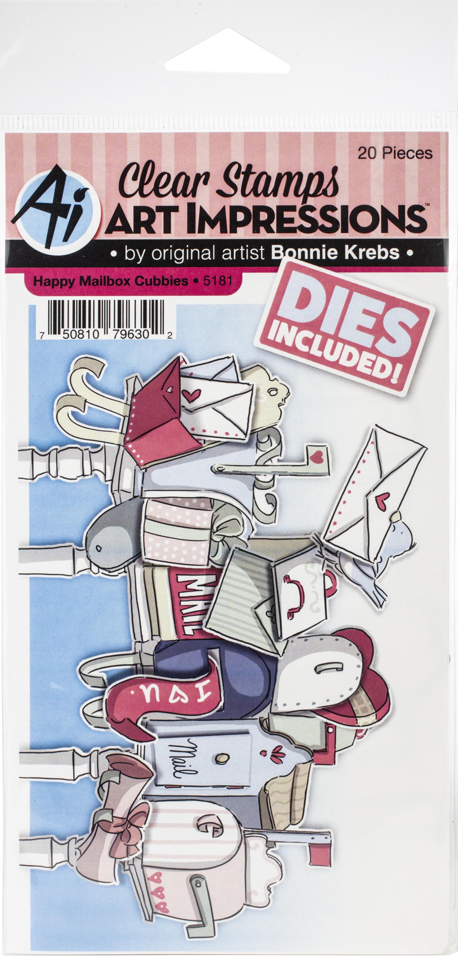 AI - Critter Cubbies - Happy Mailbox Stamp & Die Set