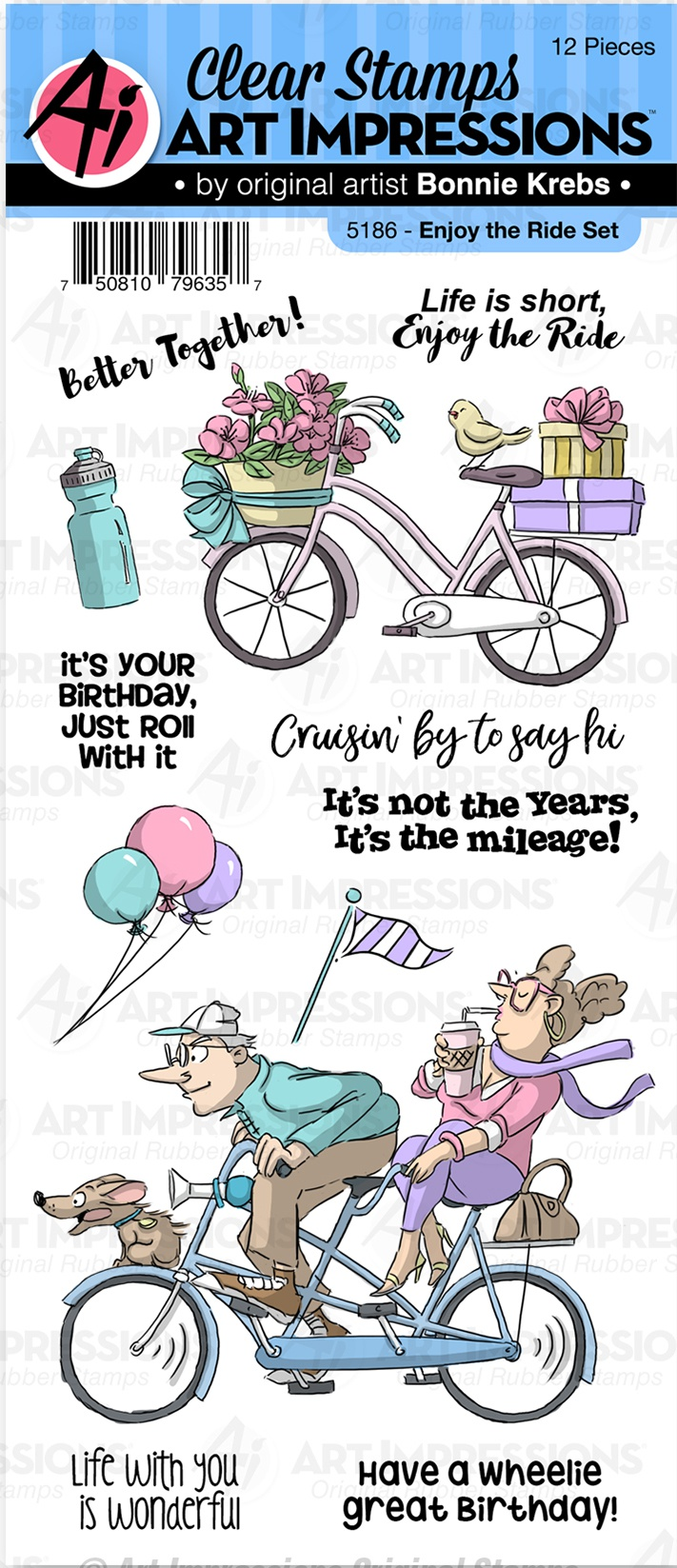 Art Impressions Work & Play Clear Stamps-Enjoy The Ride