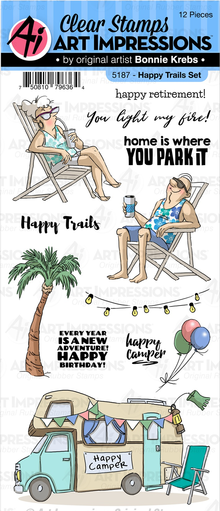 Art Impressions Work & Play Clear Stamps-Happy Trails