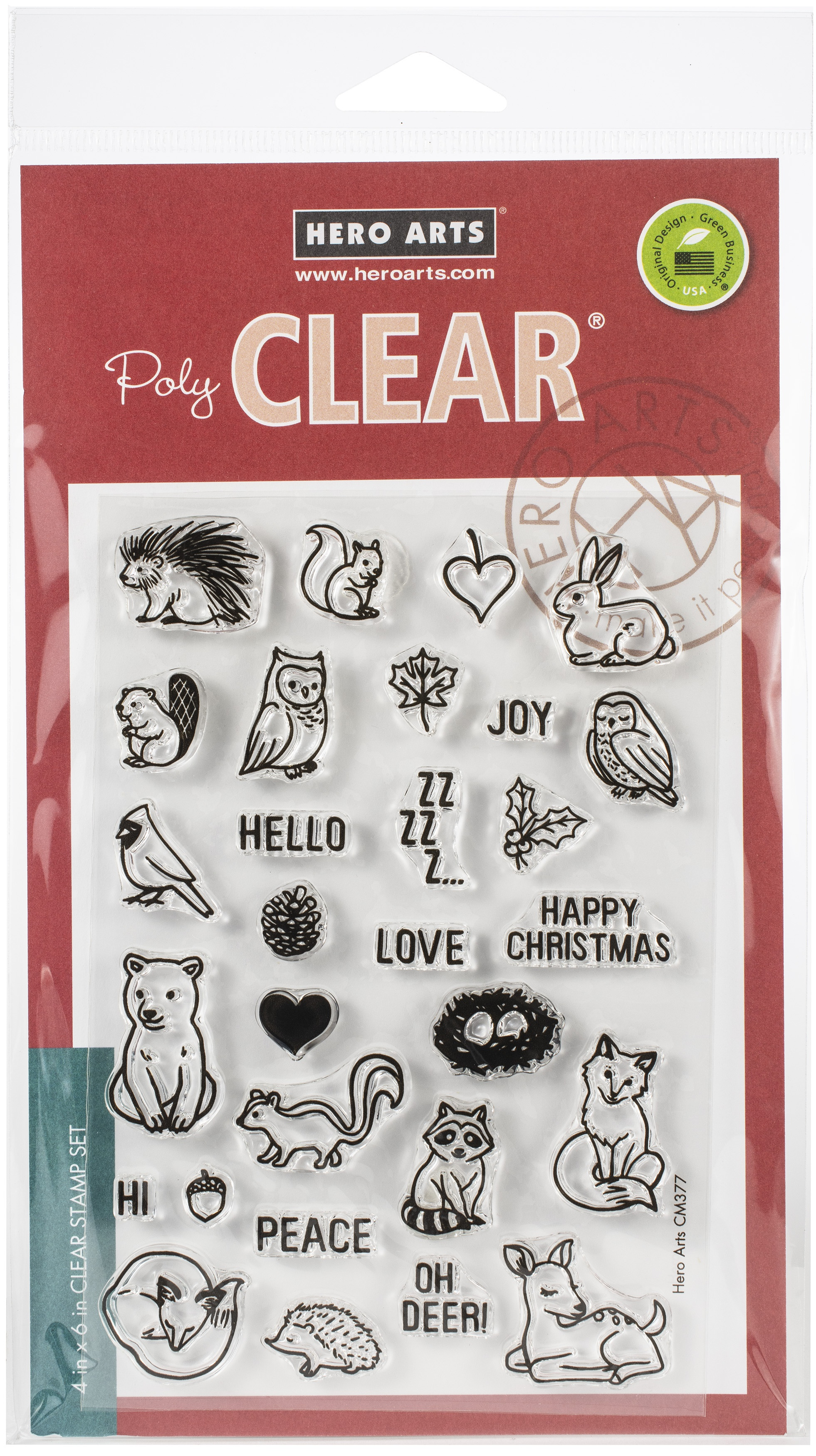 Hero Arts Clear Stamps 4X6-Winter Forest Animals