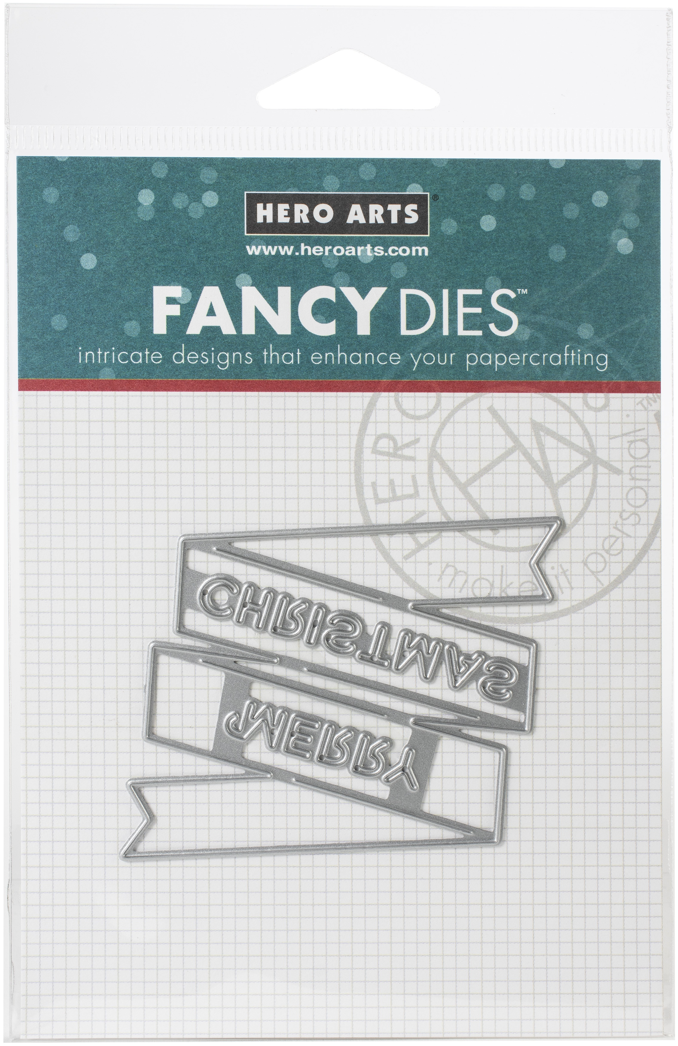 Hero Arts Banner Fancy Dies-Merry Christmas