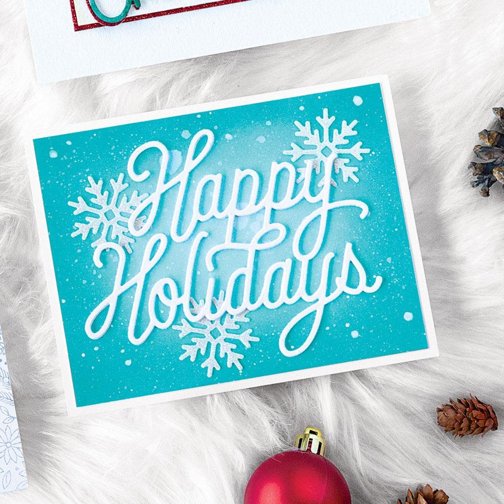 holidays message fancy die
