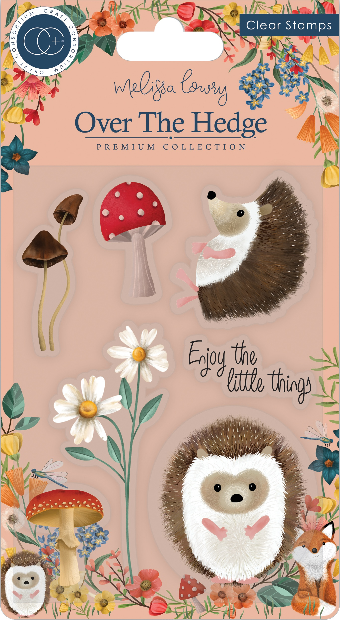 Craft Consortium A5 Clear Stamps-Harry The Hedgehog