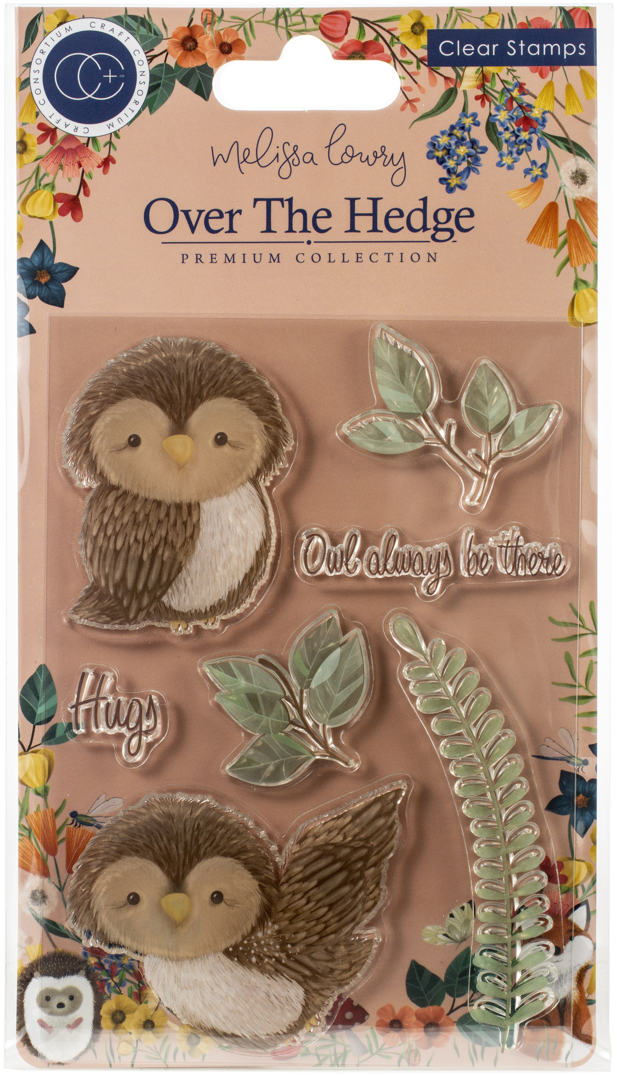 Craft Consortium A5 Clear Stamps-Olivia The Owl