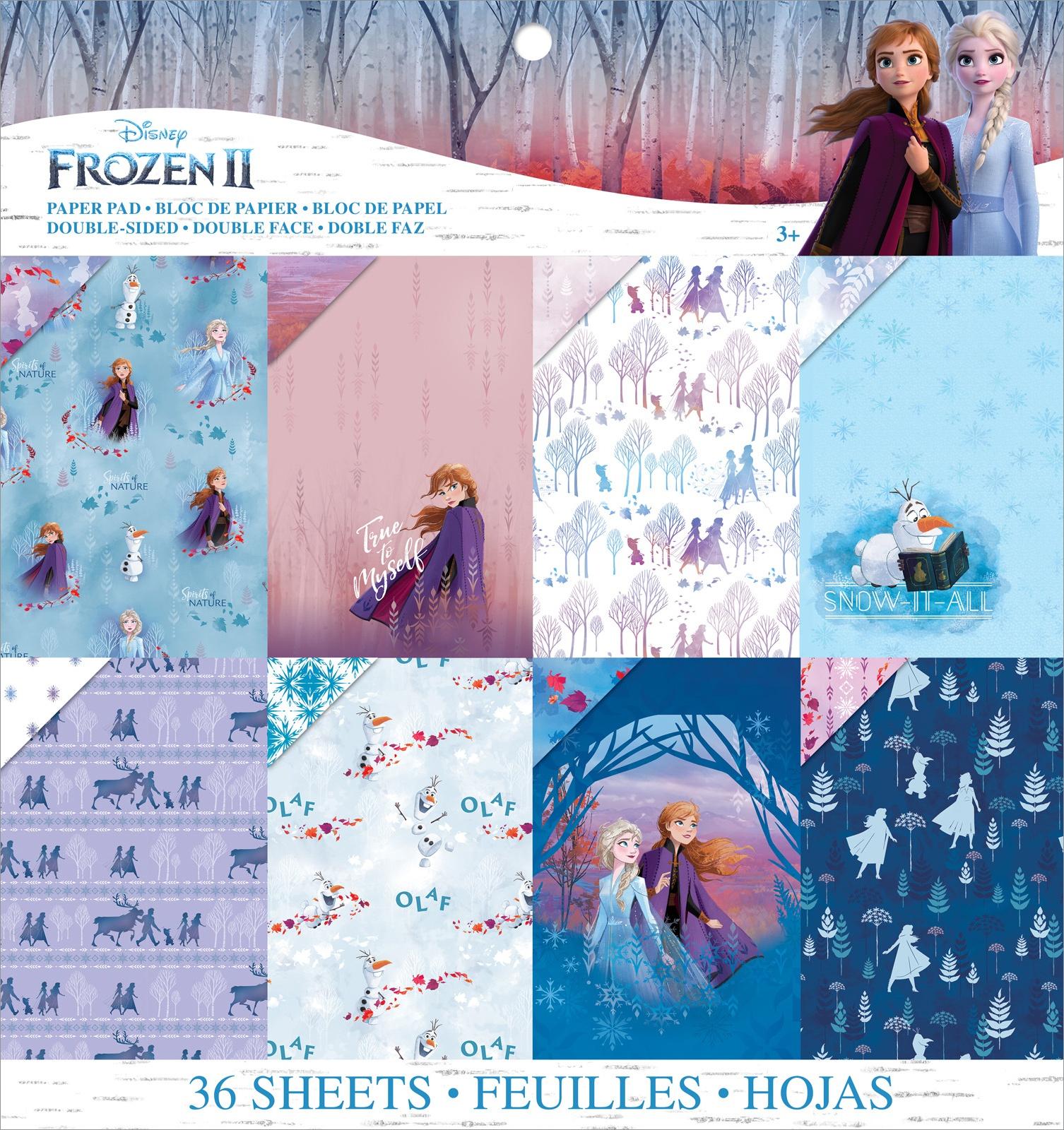 EK Disney Paper Pad 12X12 36/Pkg-Frozen II, 12 Designs/3 Each