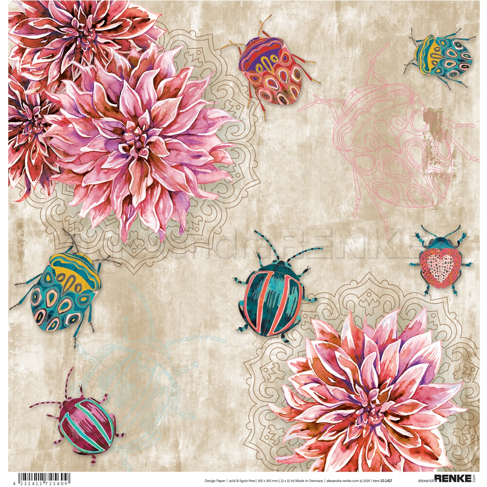 Alexandra Renke Wildness Of Nature Design Paper 12X12-Autumn Bugs