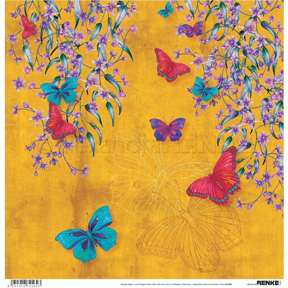 Alexandra Renke Wildness Of Nature Design Paper 12X12-Autumn Butterflies