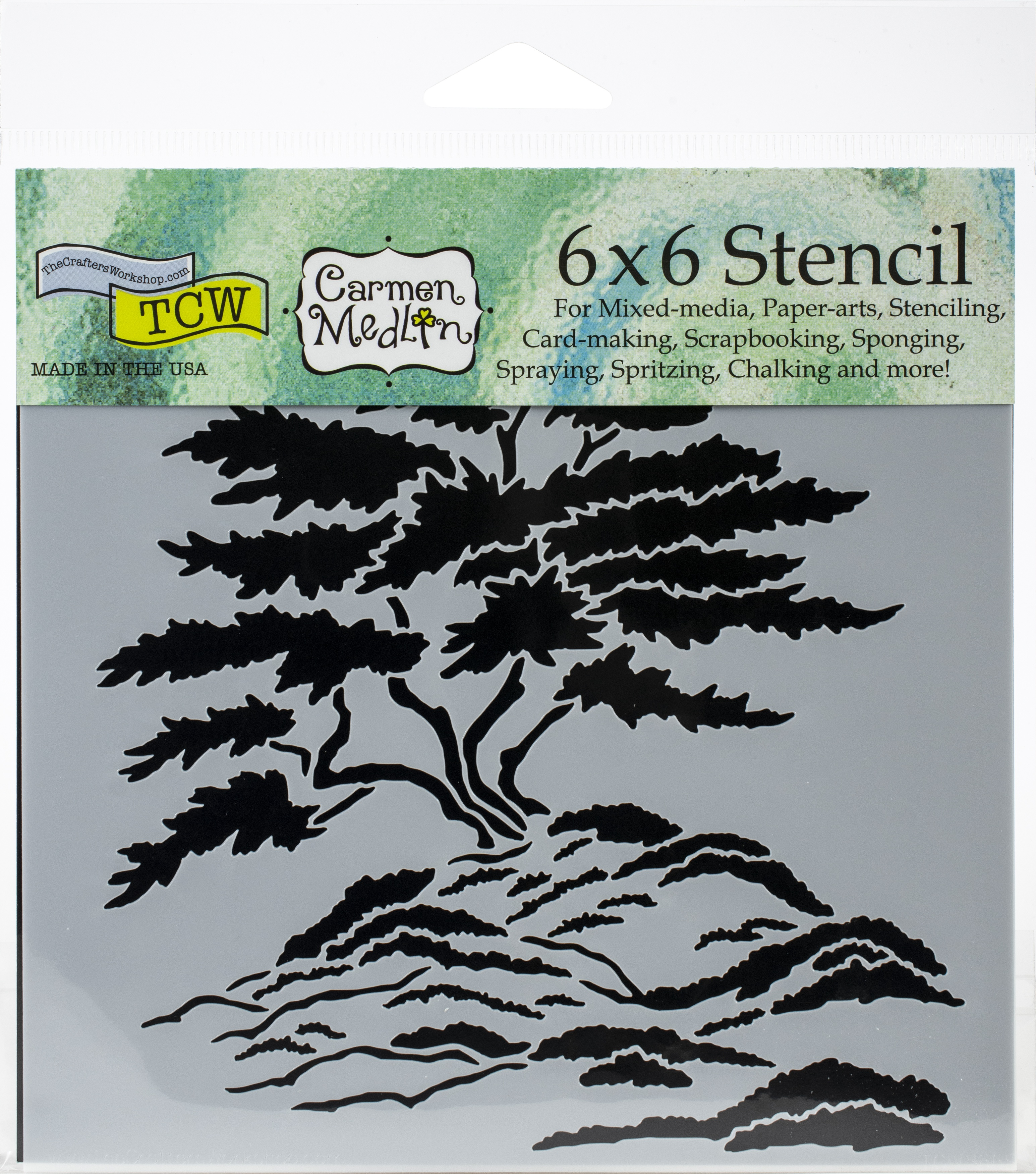 Crafter's Workshop Template 6X6-Cypress Tree