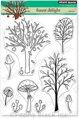 Penny Black Clear Stamps-Forest Delight 5X6.5