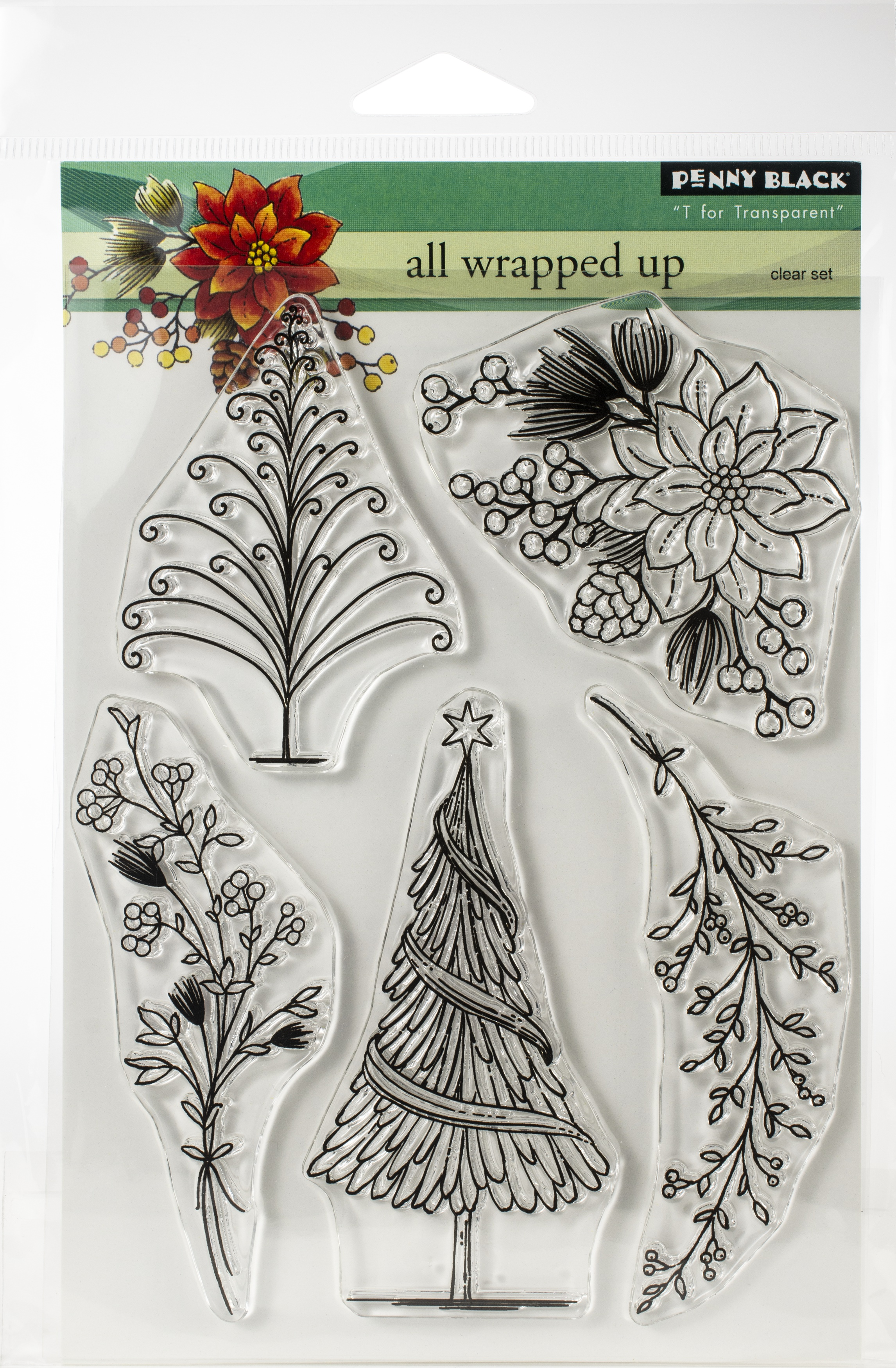 Penny Black Clear Stamps-All Wrapped Up 5X6.5