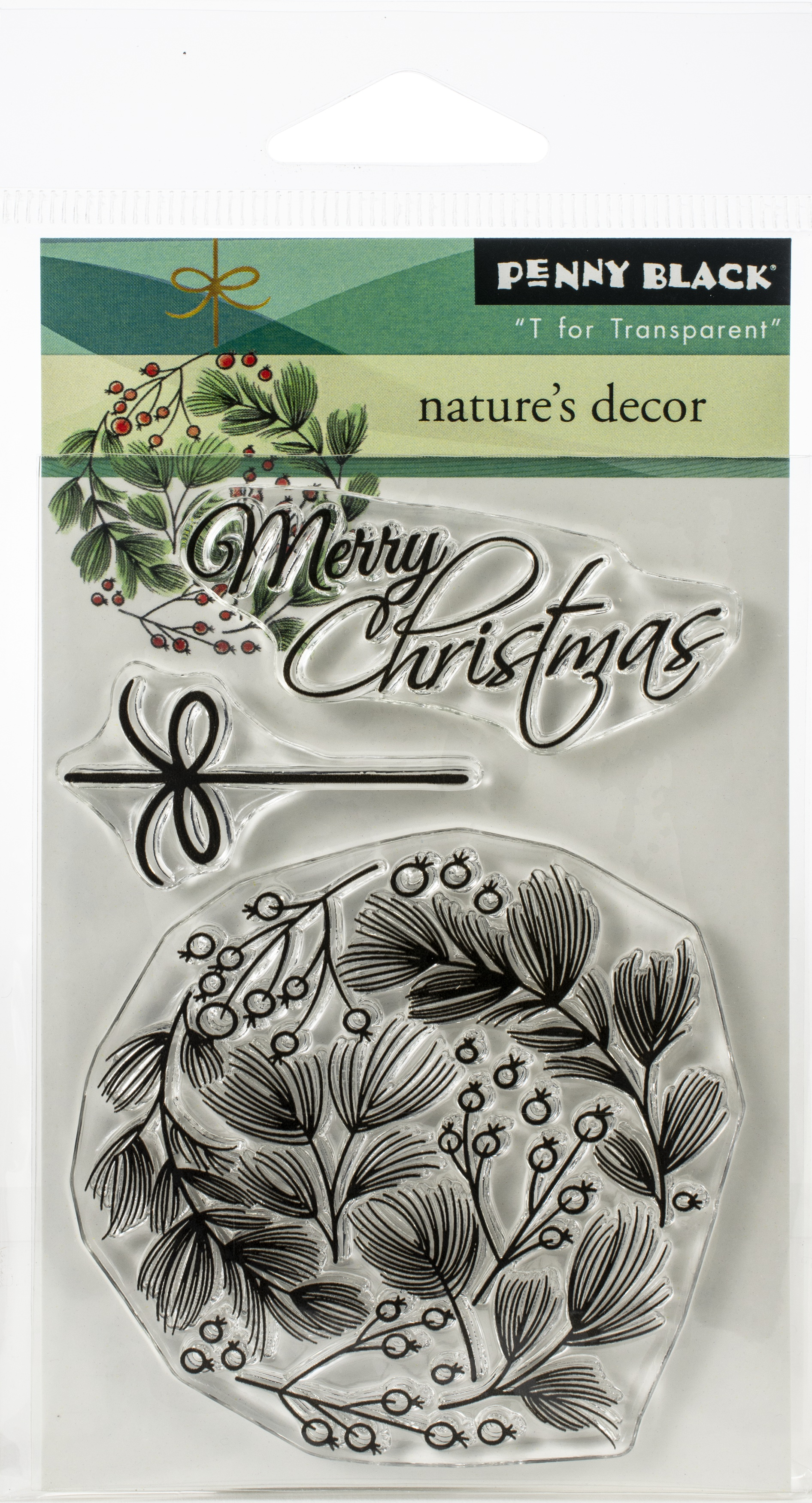 Penny Black Clear Stamps-Nature's Decor 3X4