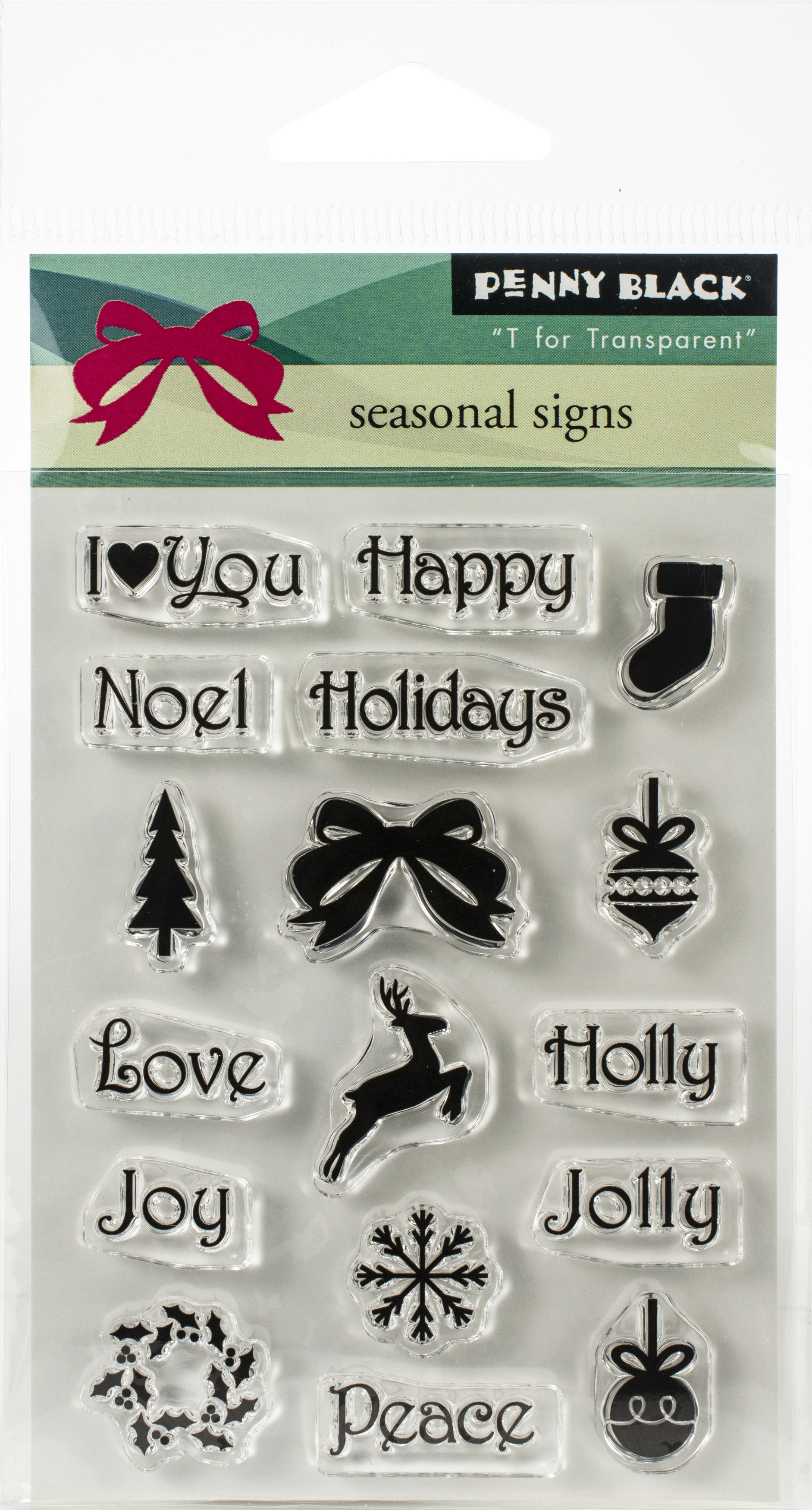 Penny Black Clear Stamps-Seasonal Sign 3X4