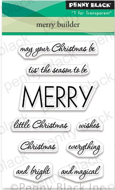 Penny Black Clear Stamps-Merry Builder 3X4
