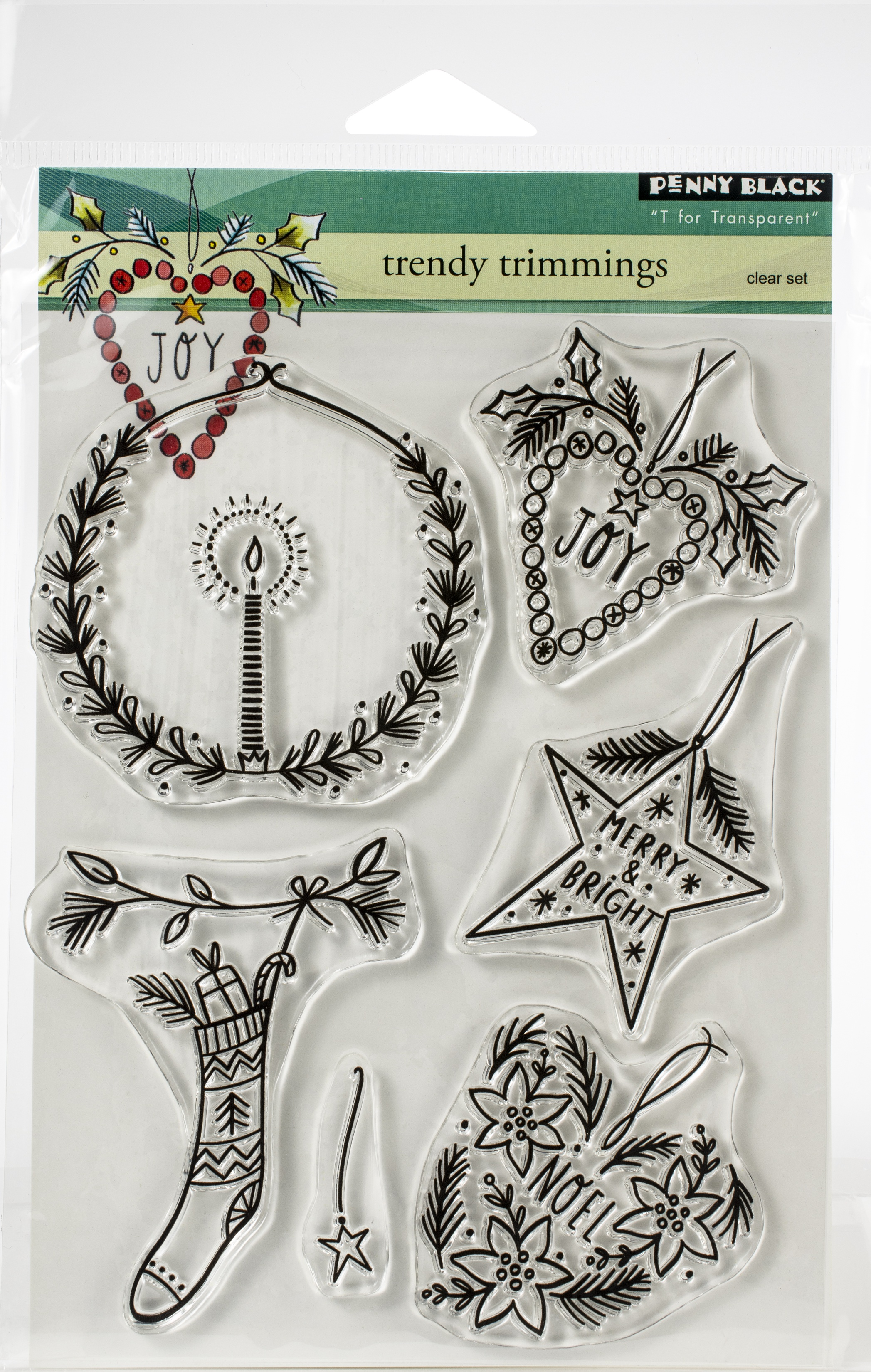 Penny Black Clear Stamps-Trendy Trimmings 5X6.5