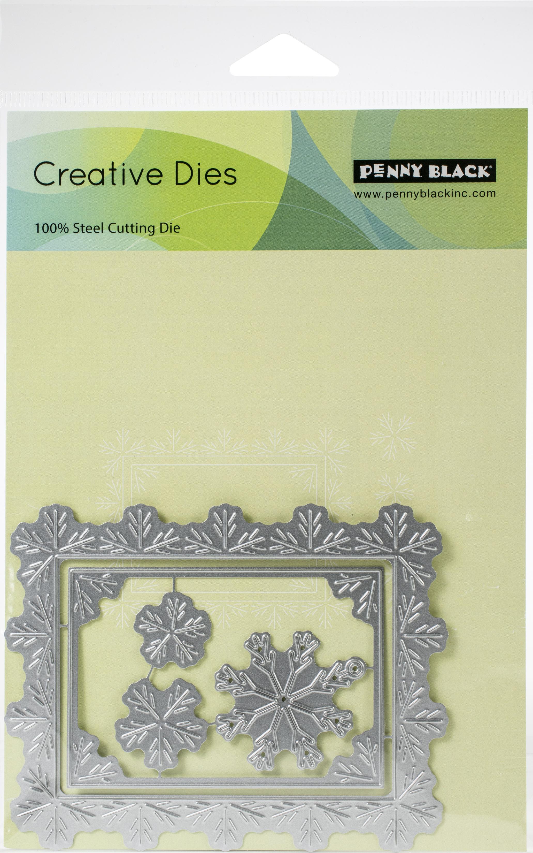 Penny Black Creative Dies-Snowflake Frame 4.5X3.5