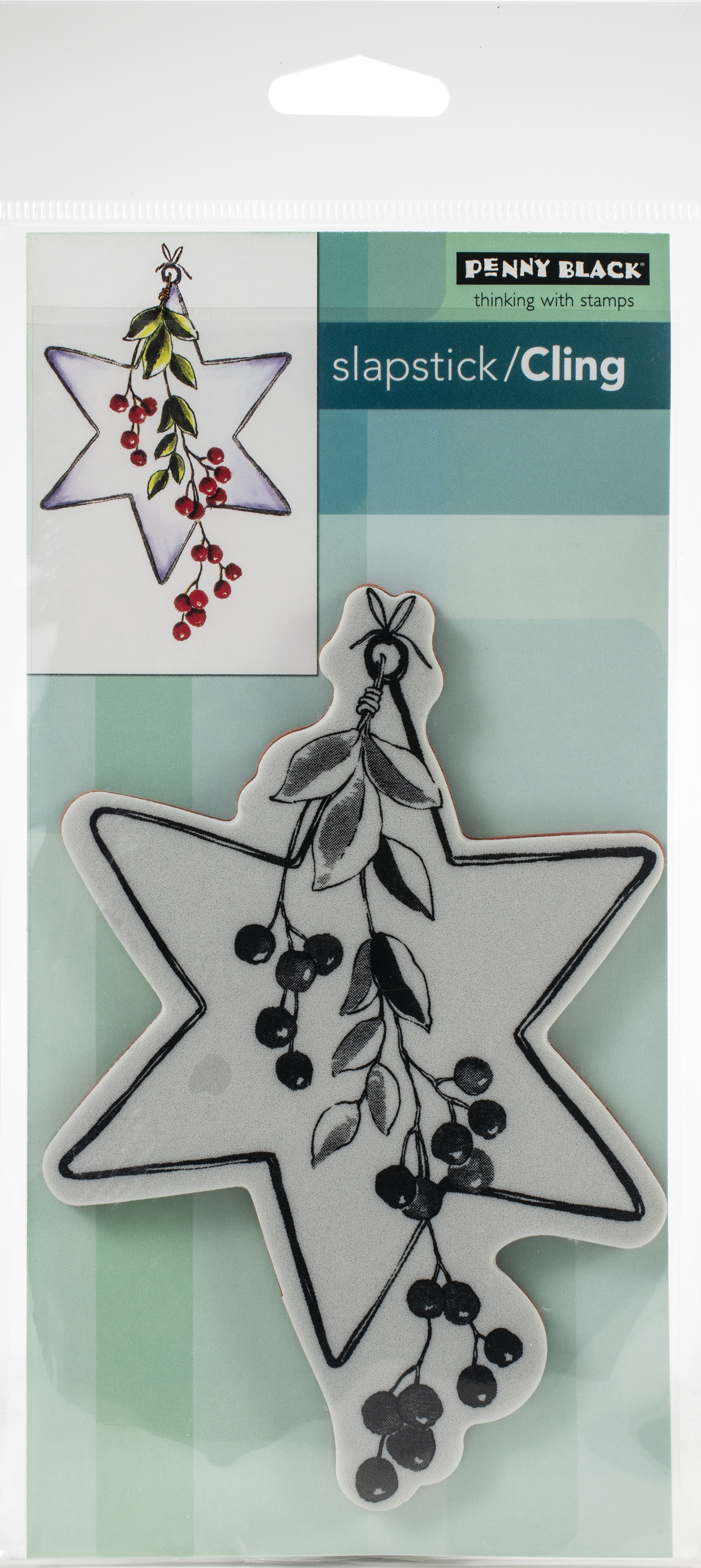 Penny Black Cling Stamps-Berry Star