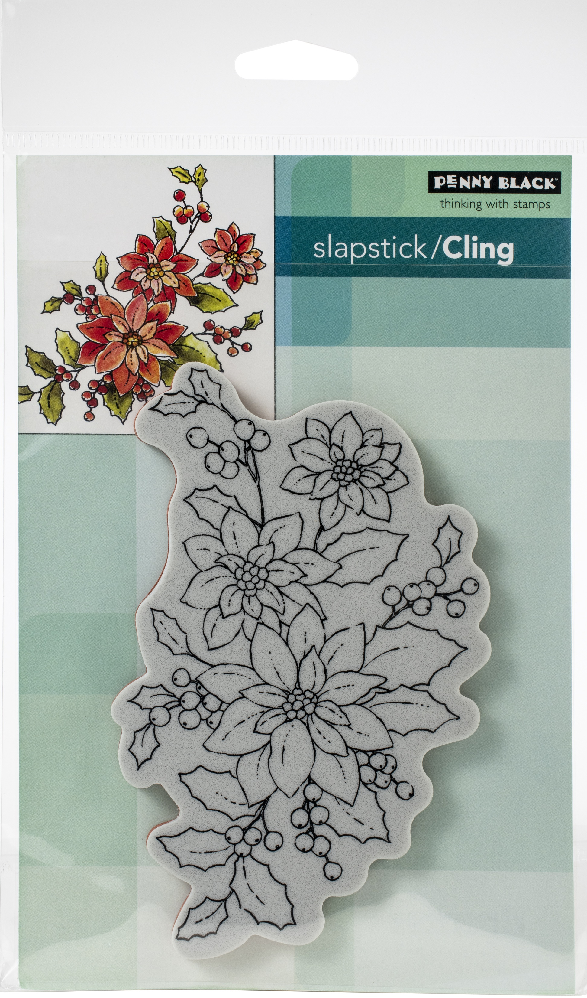 Penny Black Cling Stamps-Poinsettia Poem