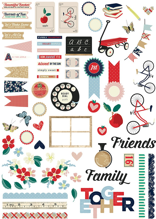 Good Ol' Days Ephemera Cardstock Die-Cuts 67/Pkg-