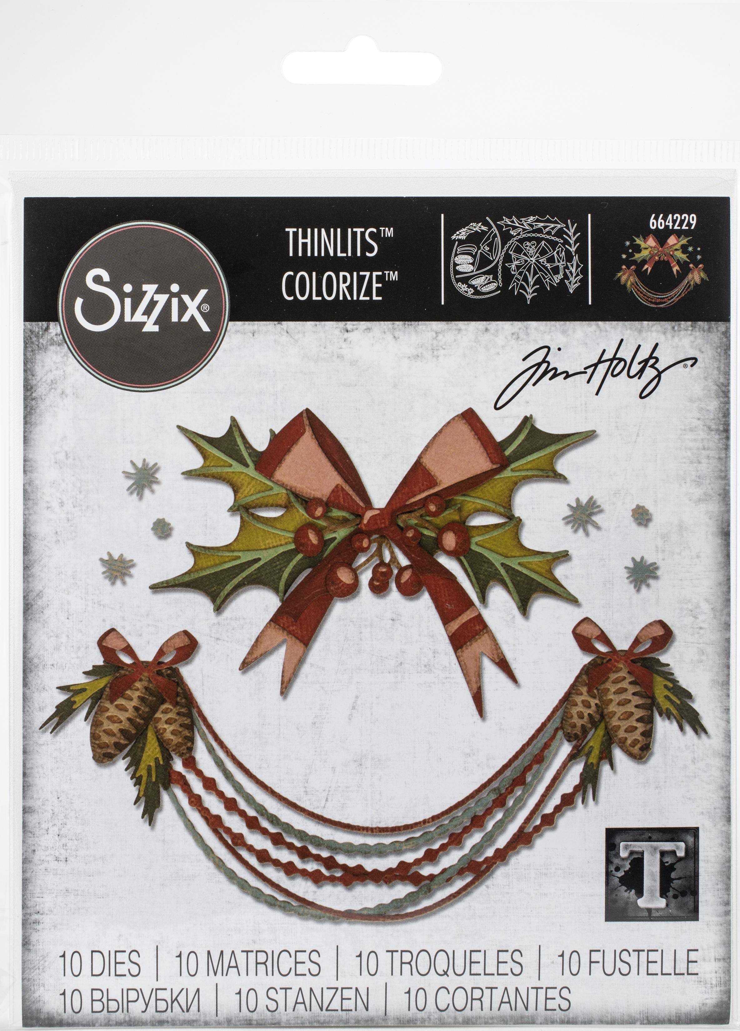 Sizzix Thinlits Dies By Tim Holtz 10/Pkg-Deck The Halls, Colorize