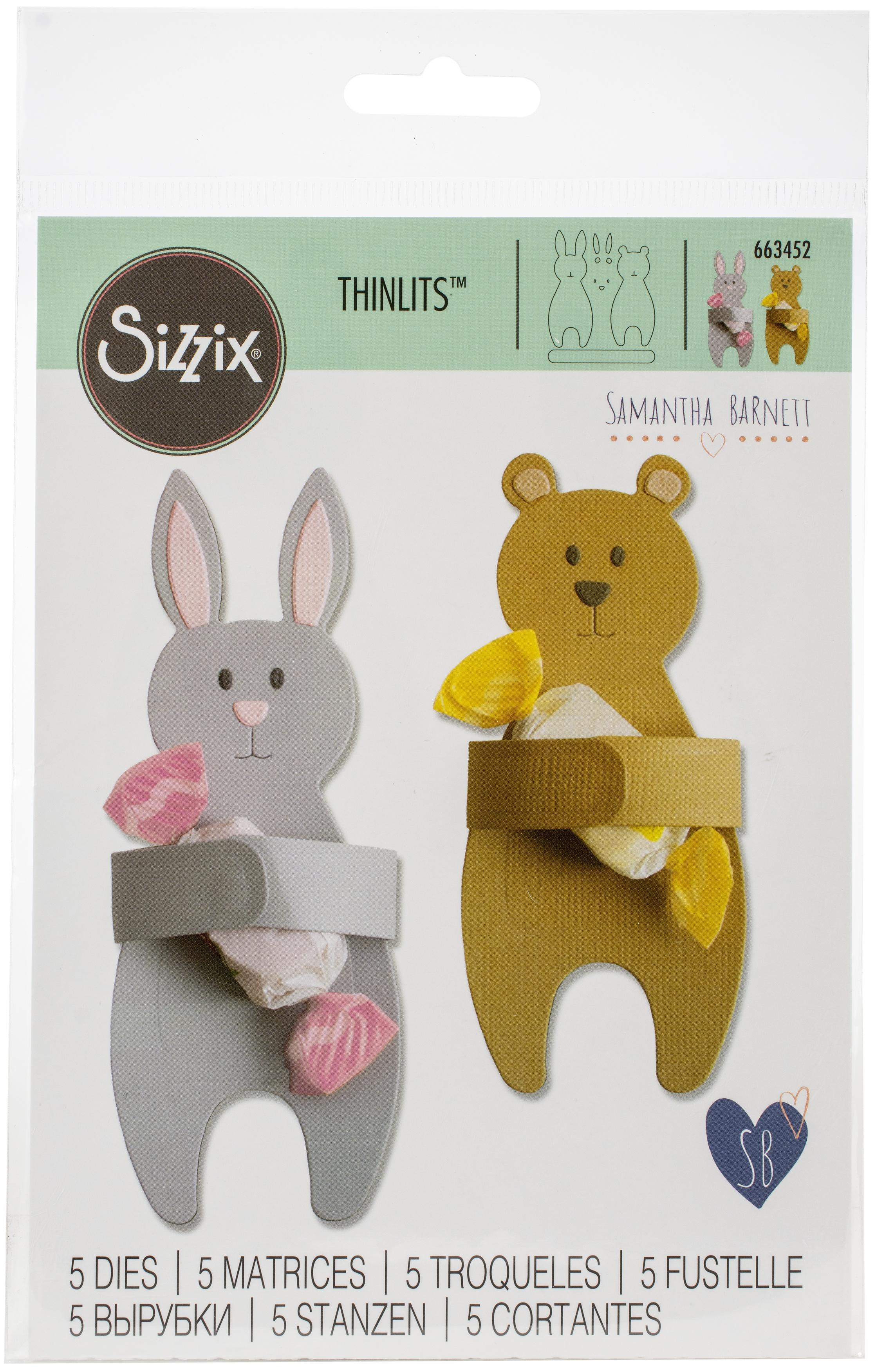 Sizzix Thinlits Dies By Samantha Barnett-Bunny & Bear Hugs