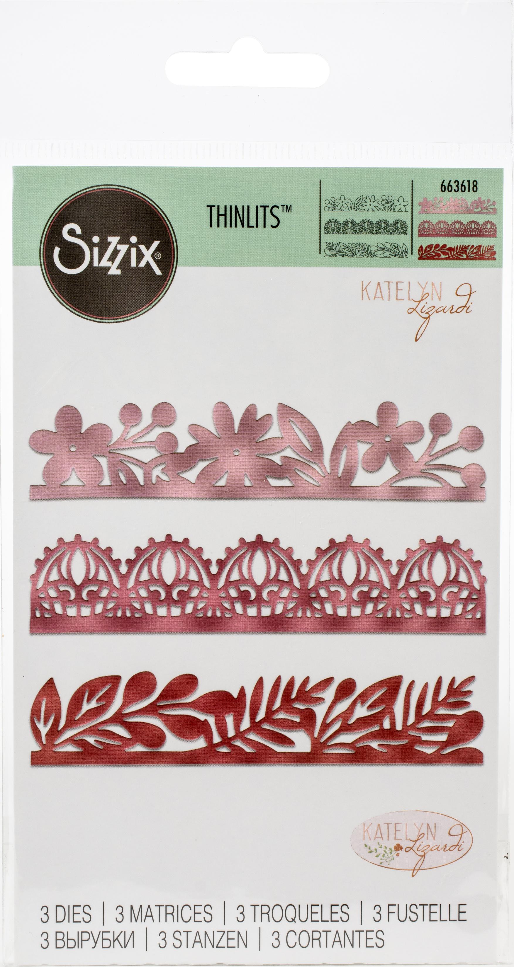 Sizzix Thinlits Dies By Katelyn Lizardi-Decorative Edges