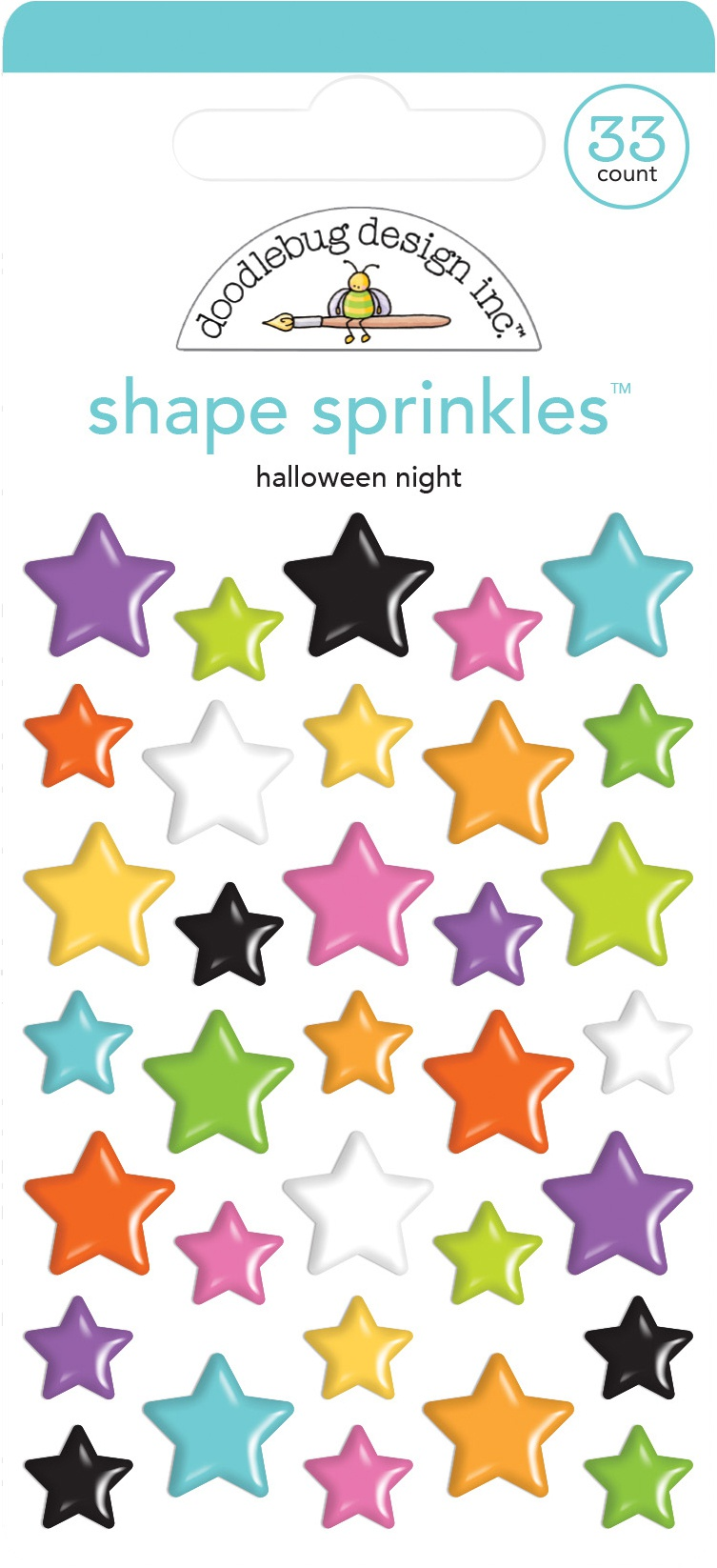 Doodlebug Sprinkles Adhesive Glossy Enamel Shapes-Halloween Night, Candy Carniva...
