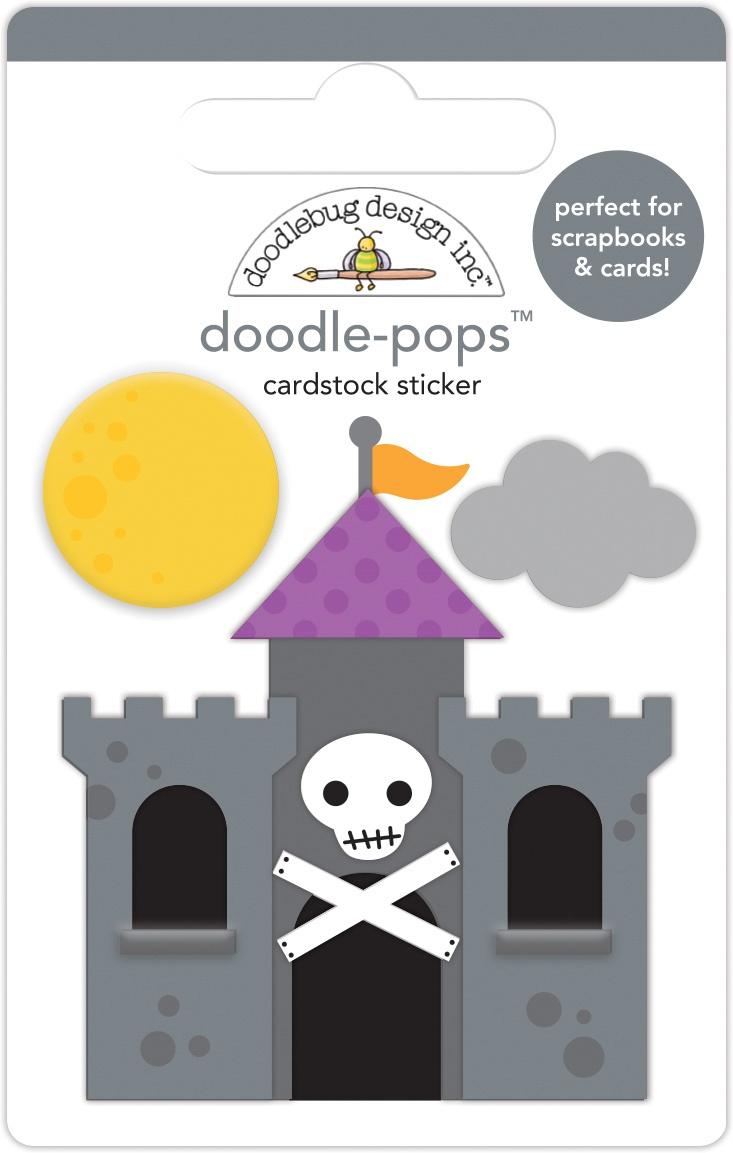 Doodlebug Doodle-Pops 3D Stickers-Dracula's Castle, Candy Carnival