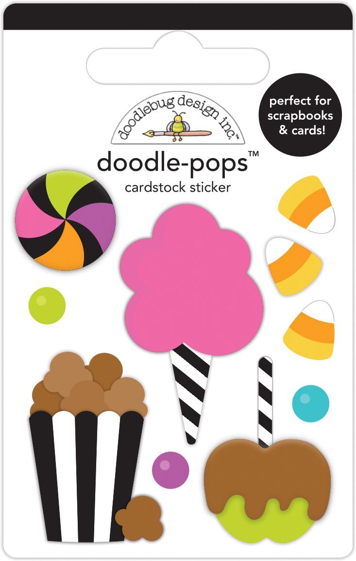 Doodlebug Doodle-Pops 3D Stickers-Candy Carnival