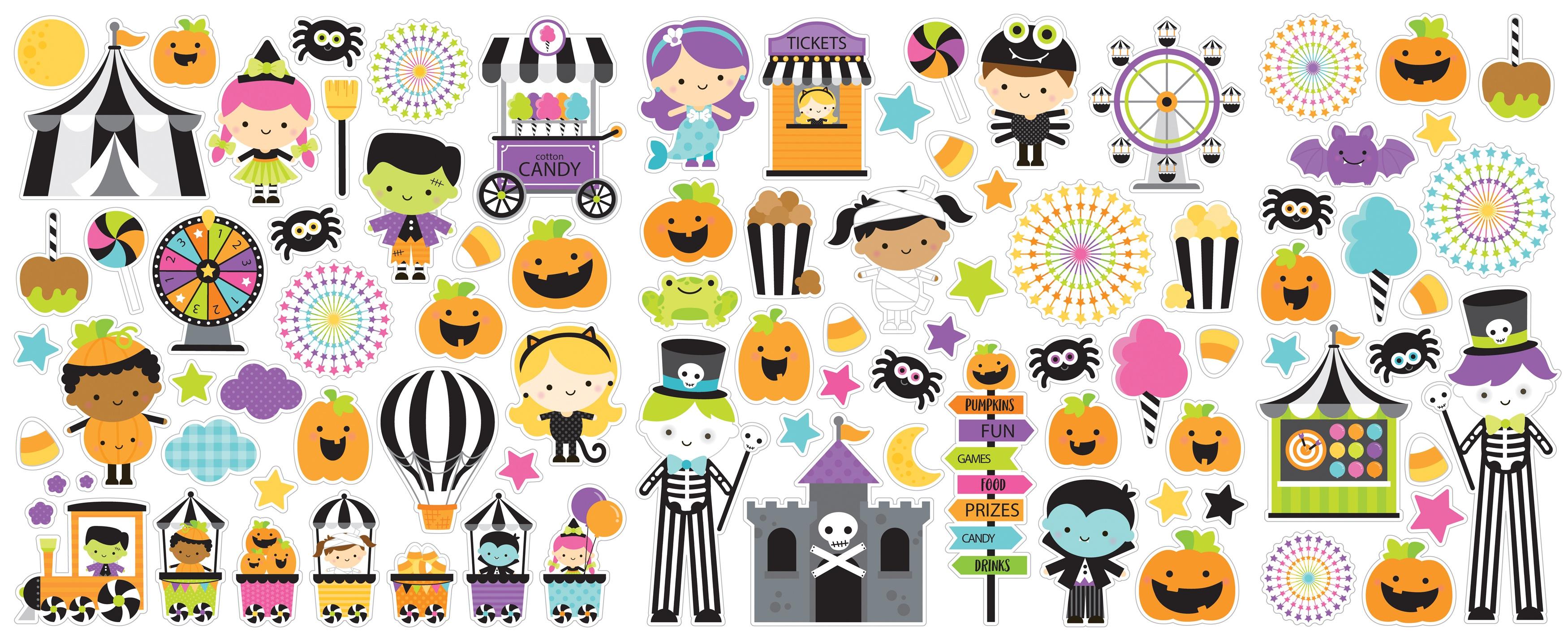 Doodlebug Odds & Ends Die-Cuts  -Candy Carnival, 90/Pkg