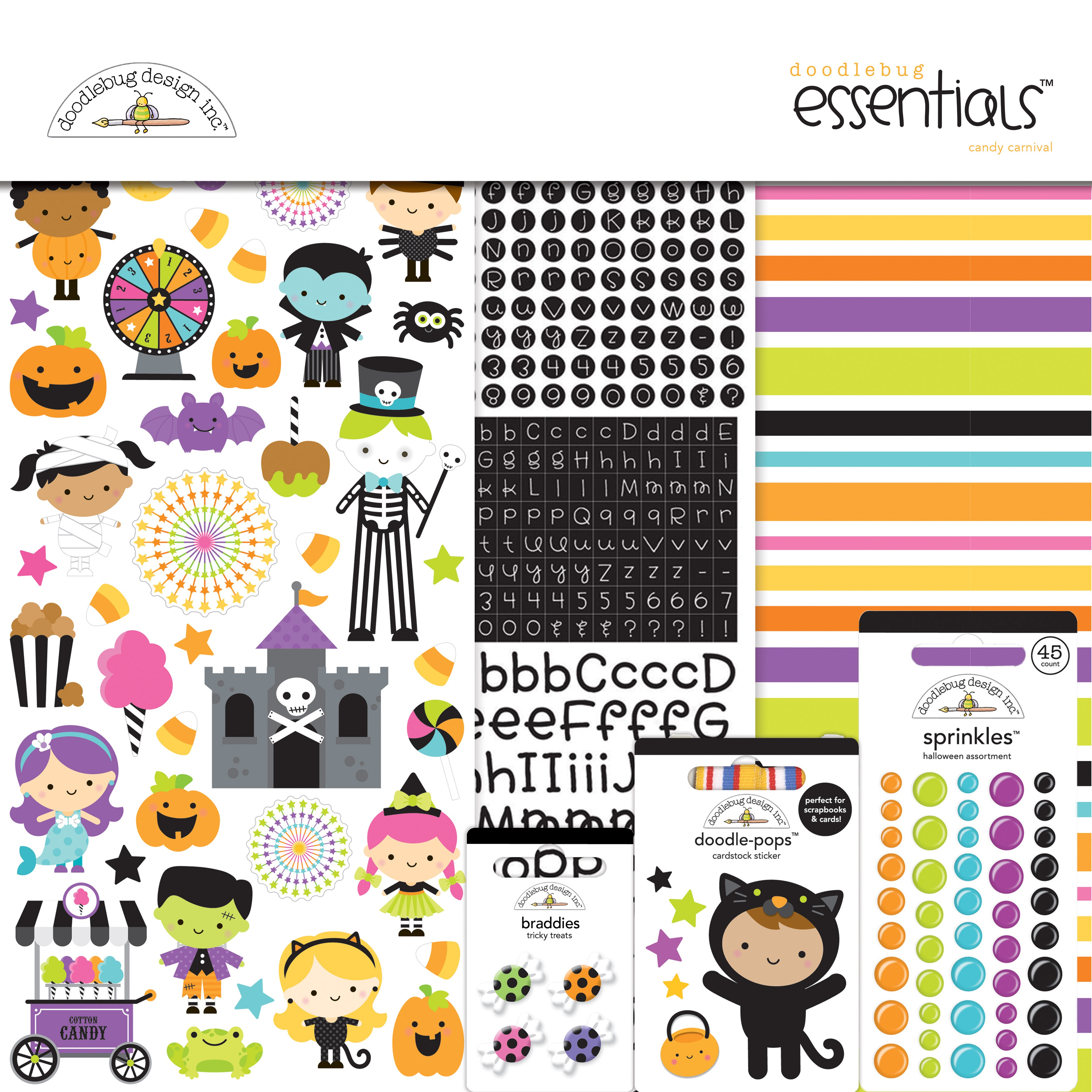 Doodlebug Essentials Page Kit 12X12-Candy Carnival