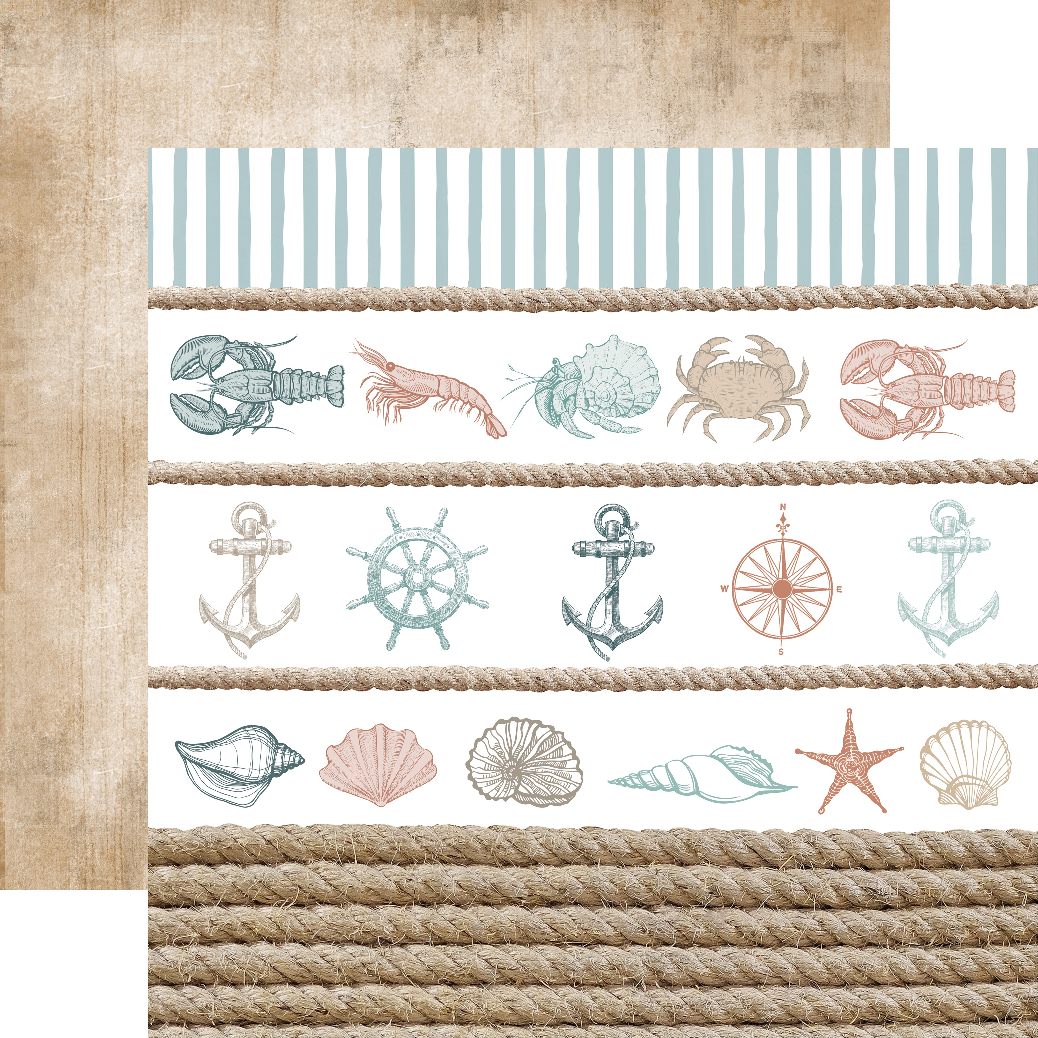 Kaisercraft Uncharted Waters Collection - Sea Shore