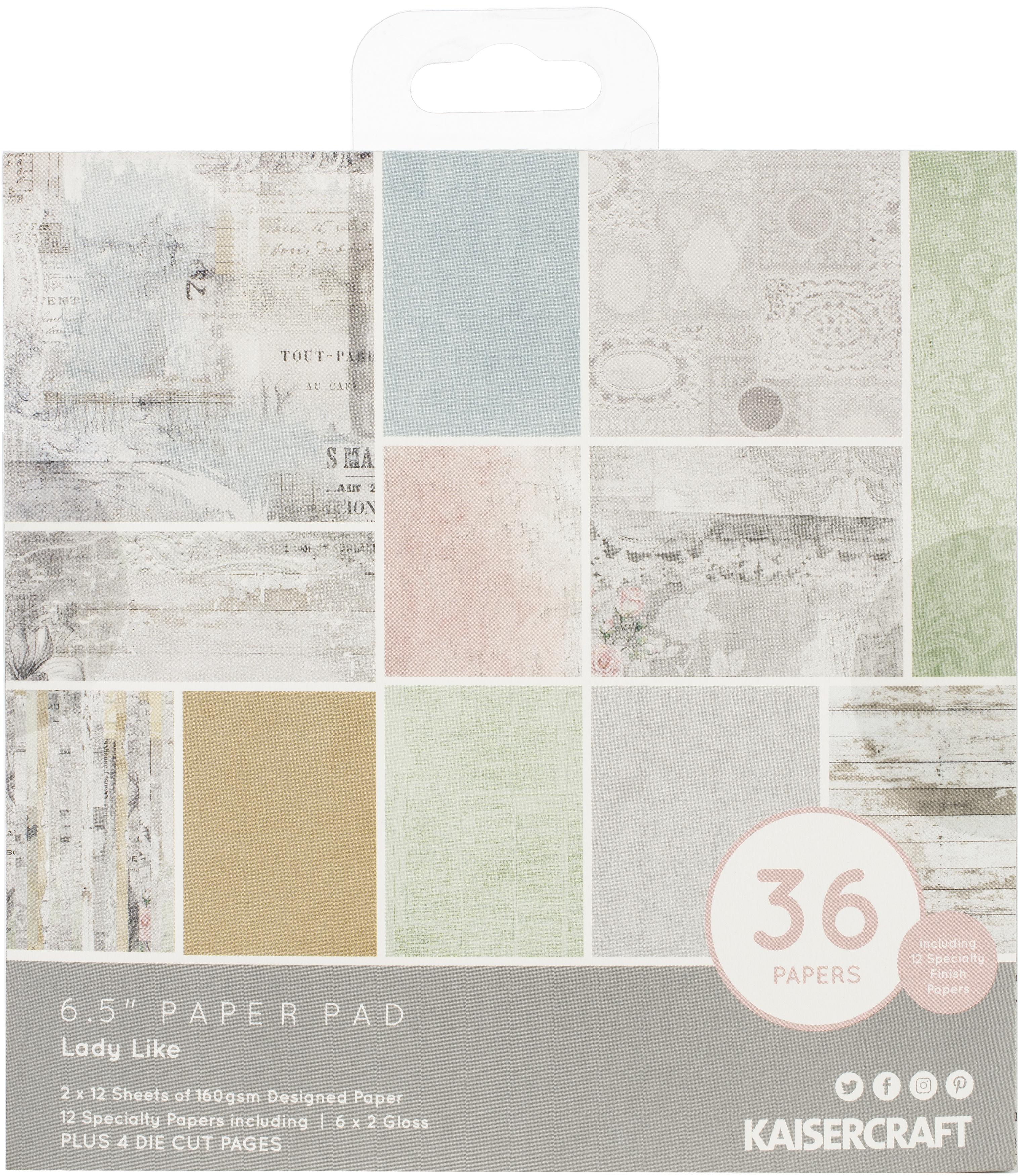 Kaisercraft Paper Pad 6.5X6.5 40/Pkg-Lady Like