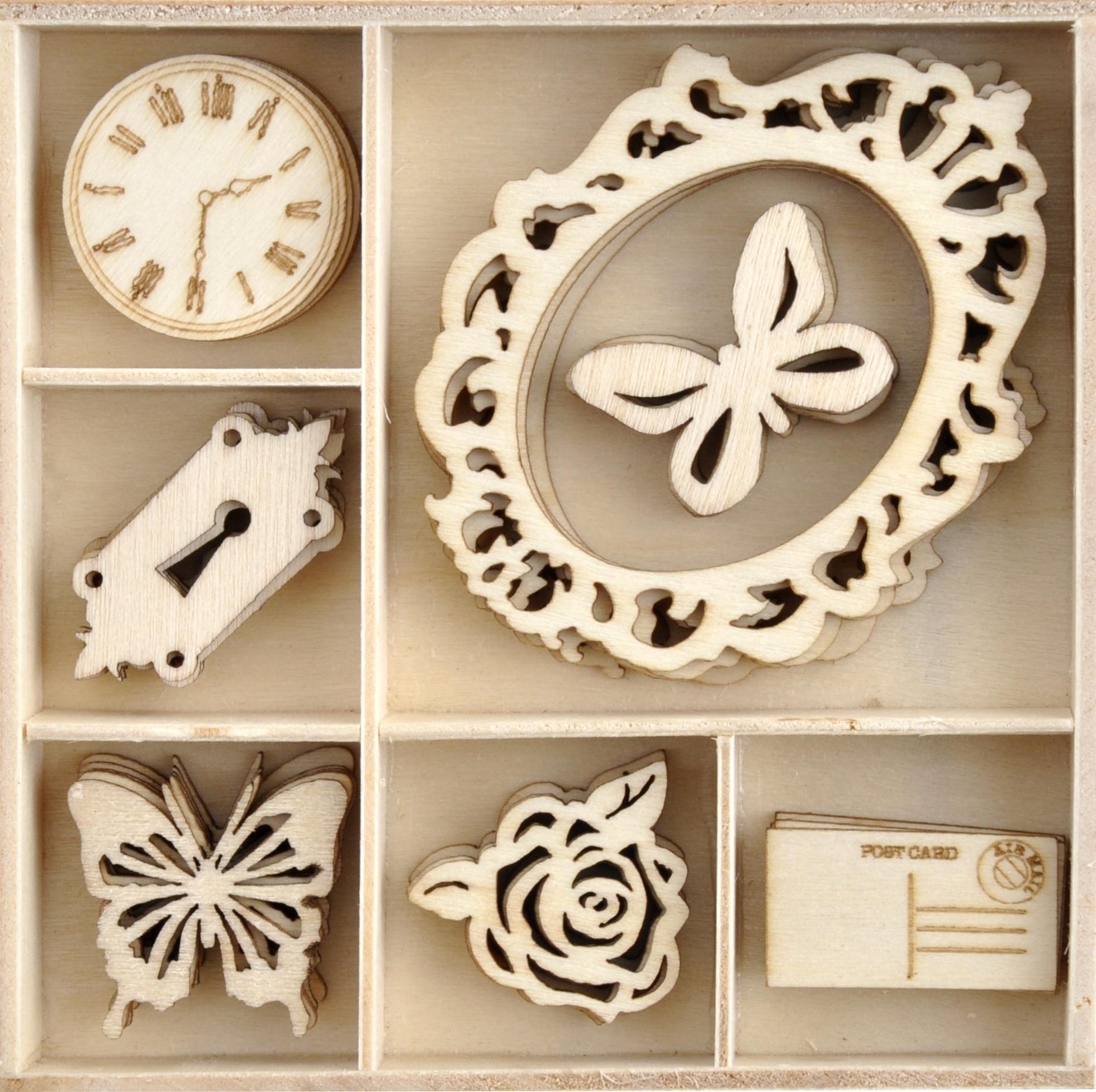 Kaisercraft Wood Mini Themed Embellishments-Lady Like