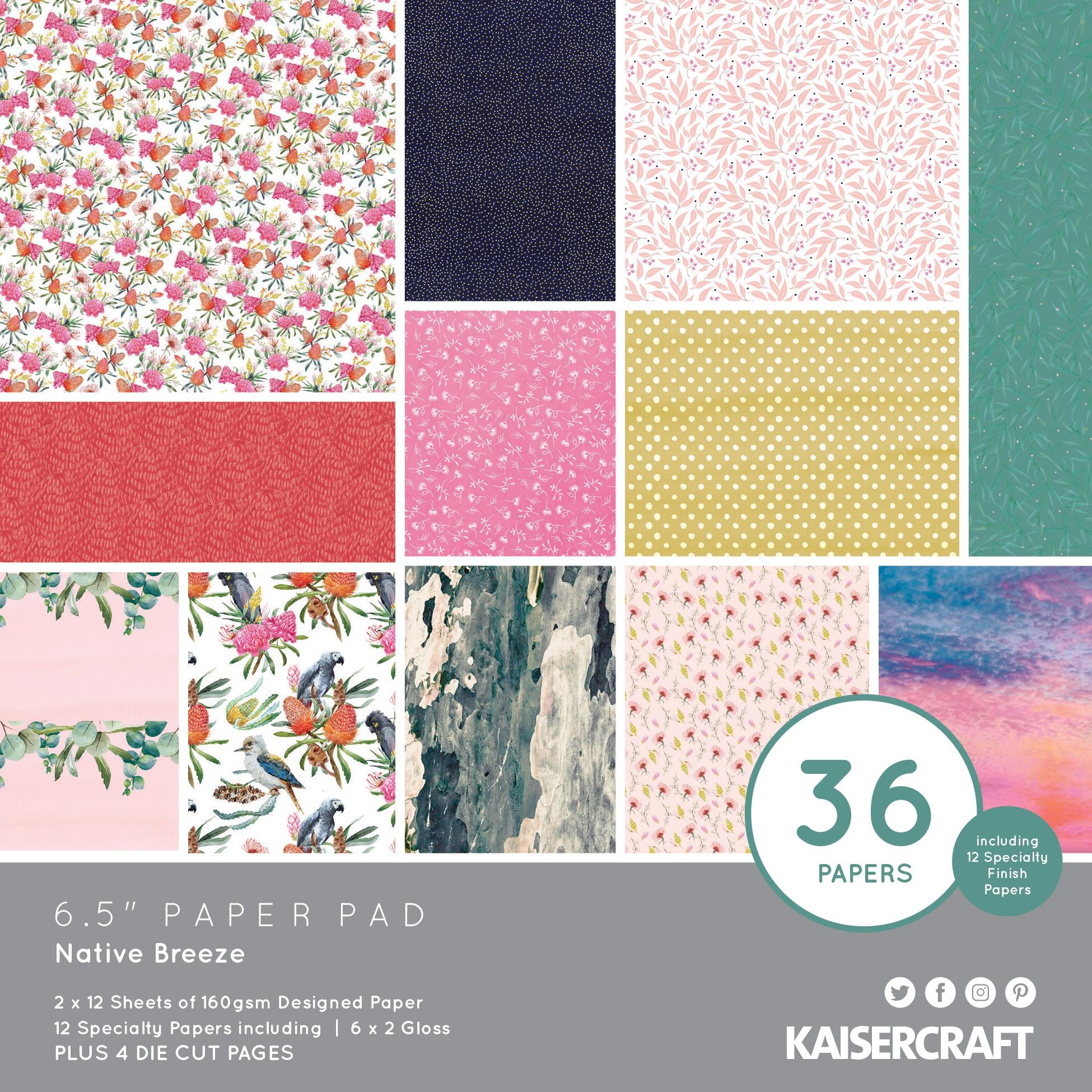 Kaisercraft Paper Pad 6.5X6.5 40/Pkg-Native Breeze