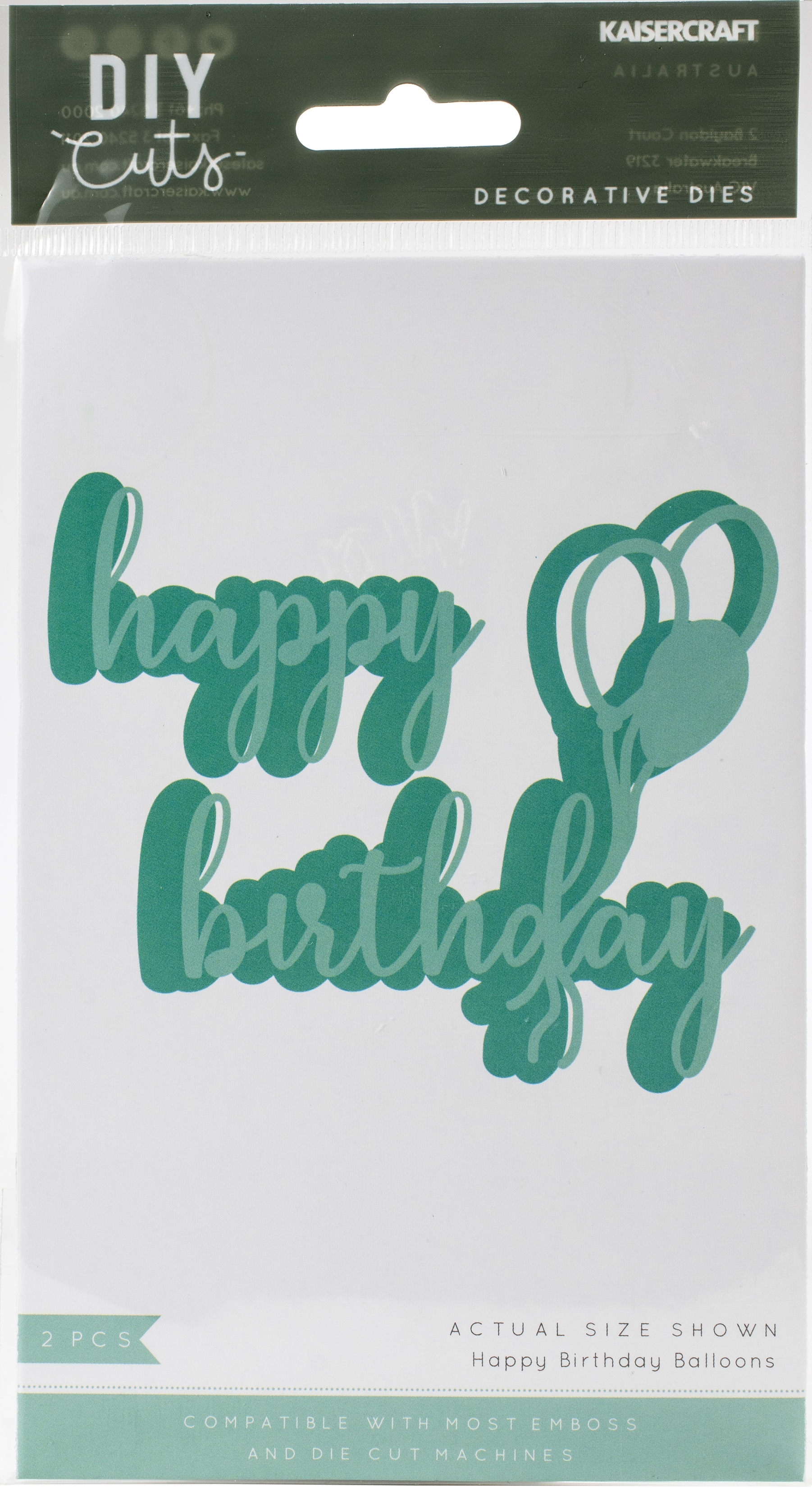 Kaisercraft Decorative Die-Happy Birthday Balloons
